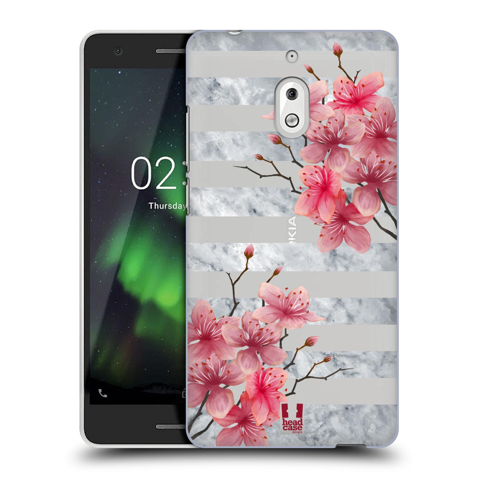Plastové pouzdro na mobil Nokia 2.1 - Head Case - Kvítka a mramor