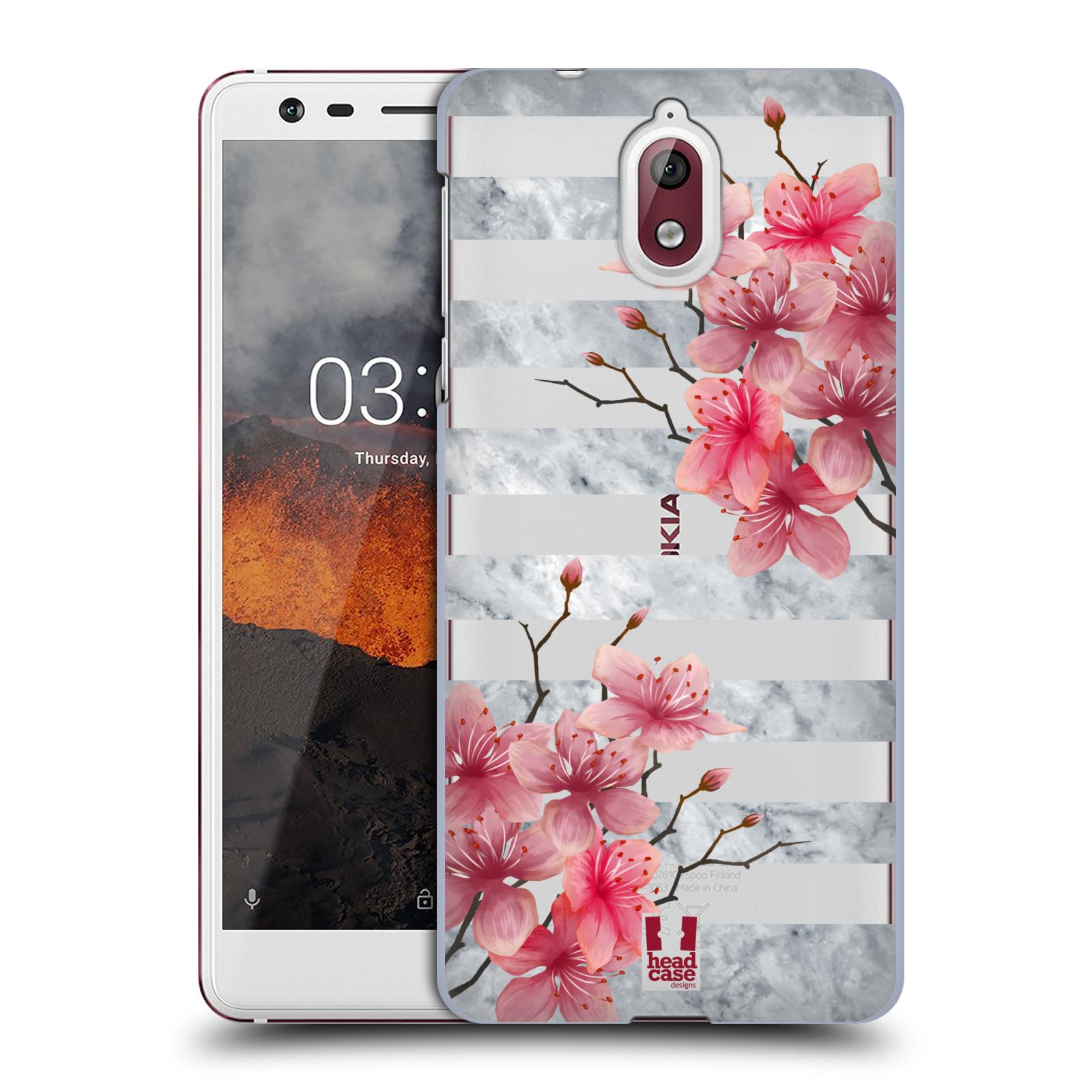 Plastové pouzdro na mobil Nokia 3.1 - Head Case - Kvítka a mramor