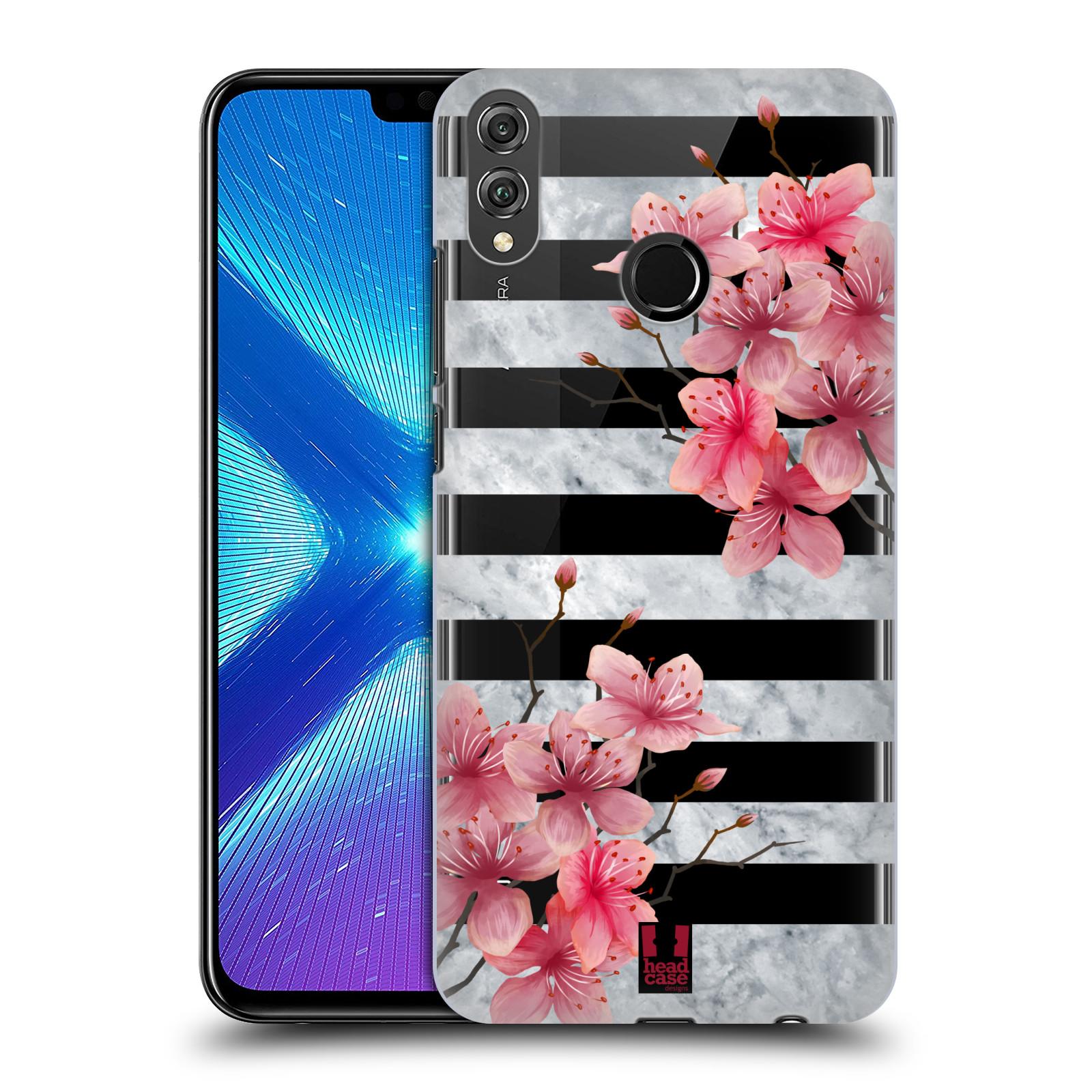 Plastové pouzdro na mobil Honor 8X - Head Case - Kvítka a mramor