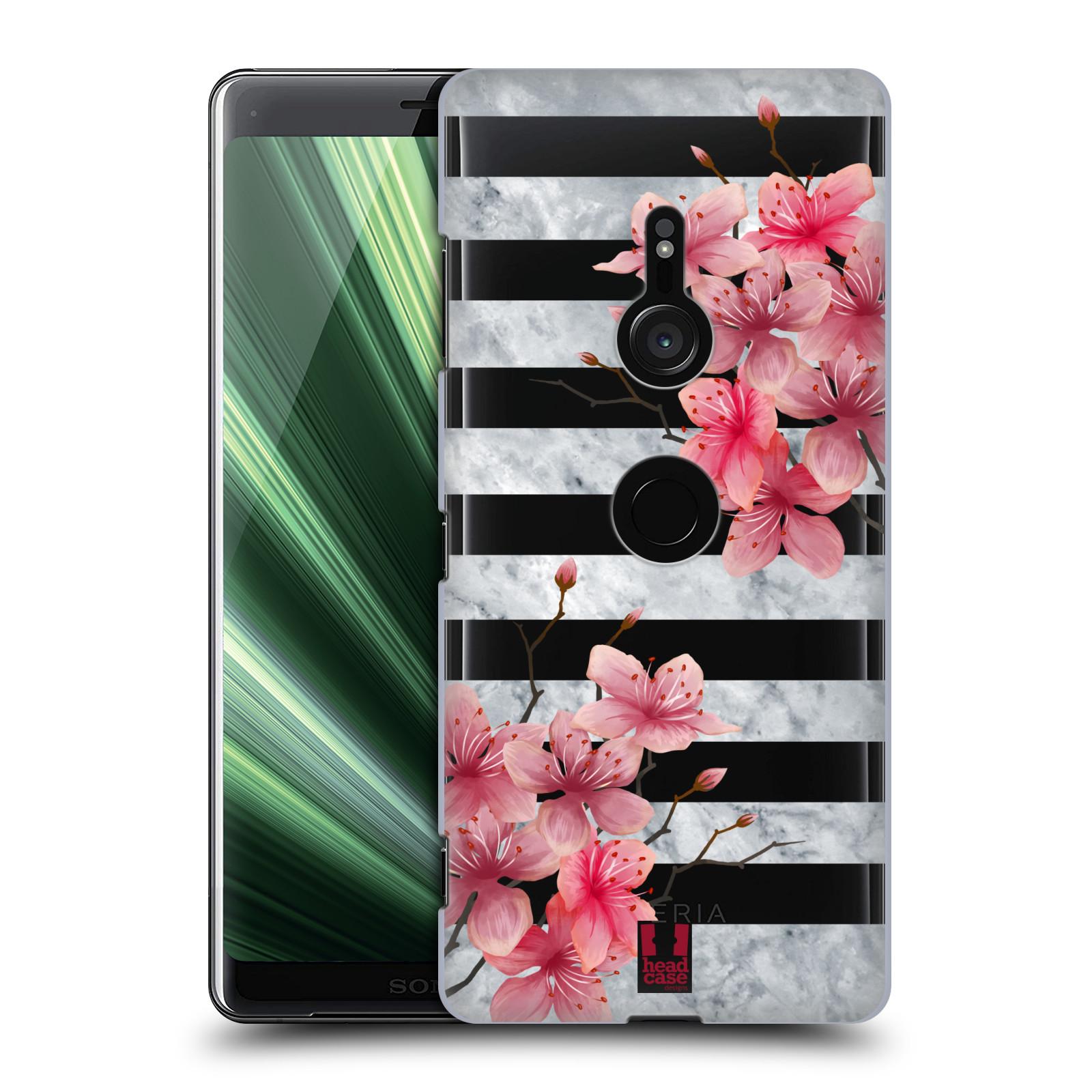 Plastové pouzdro na mobil Sony Xperia XZ3 - Head Case - Kvítka a mramor