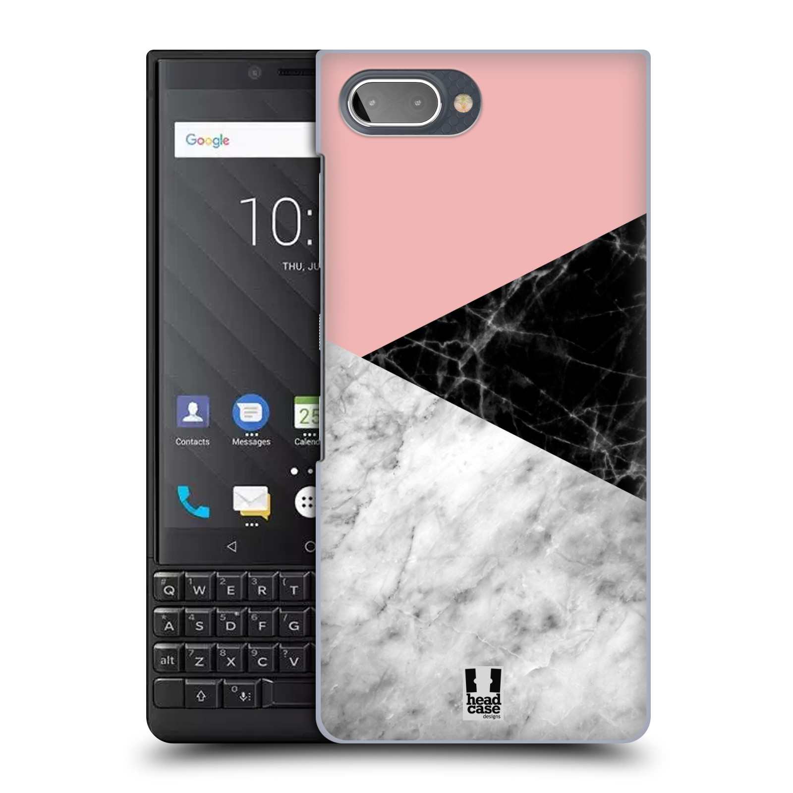 Plastové pouzdro na mobil Blackberry Key 2 - Head Case - Mramor mix