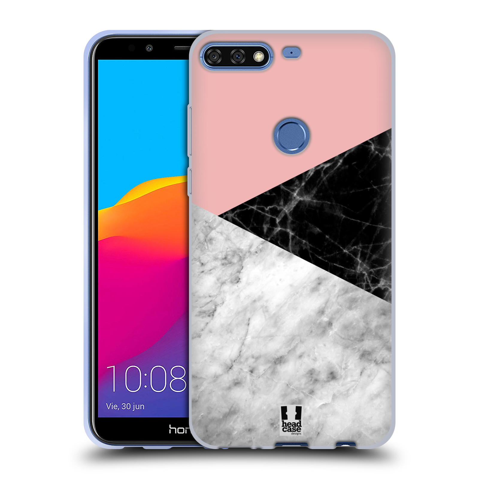 Silikonové pouzdro na mobil Huawei Y7 Prime (2018) - Head Case - Mramor mix