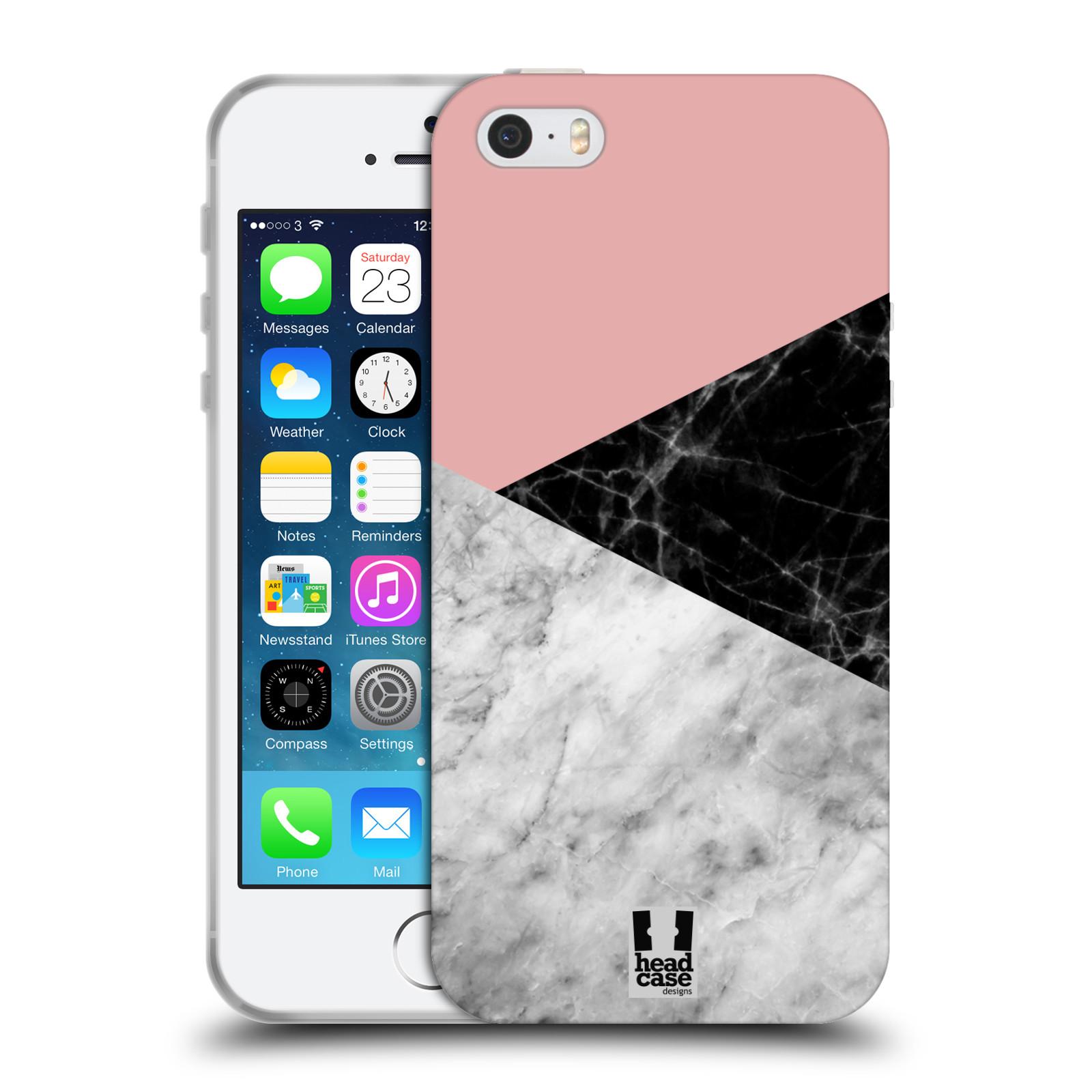 Silikonové pouzdro na mobil Apple iPhone 5, 5S, SE - Head Case - Mramor mix
