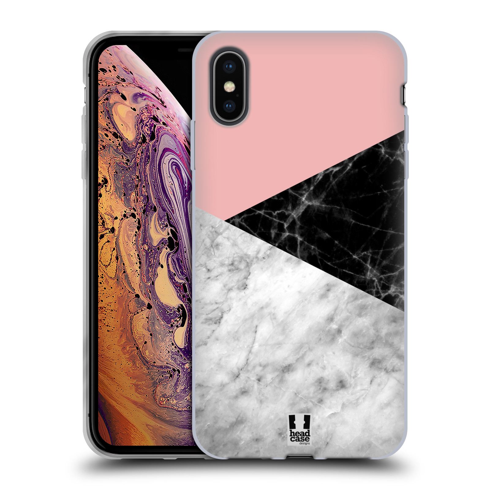 Silikonové pouzdro na mobil Apple iPhone XS Max - Head Case - Mramor mix