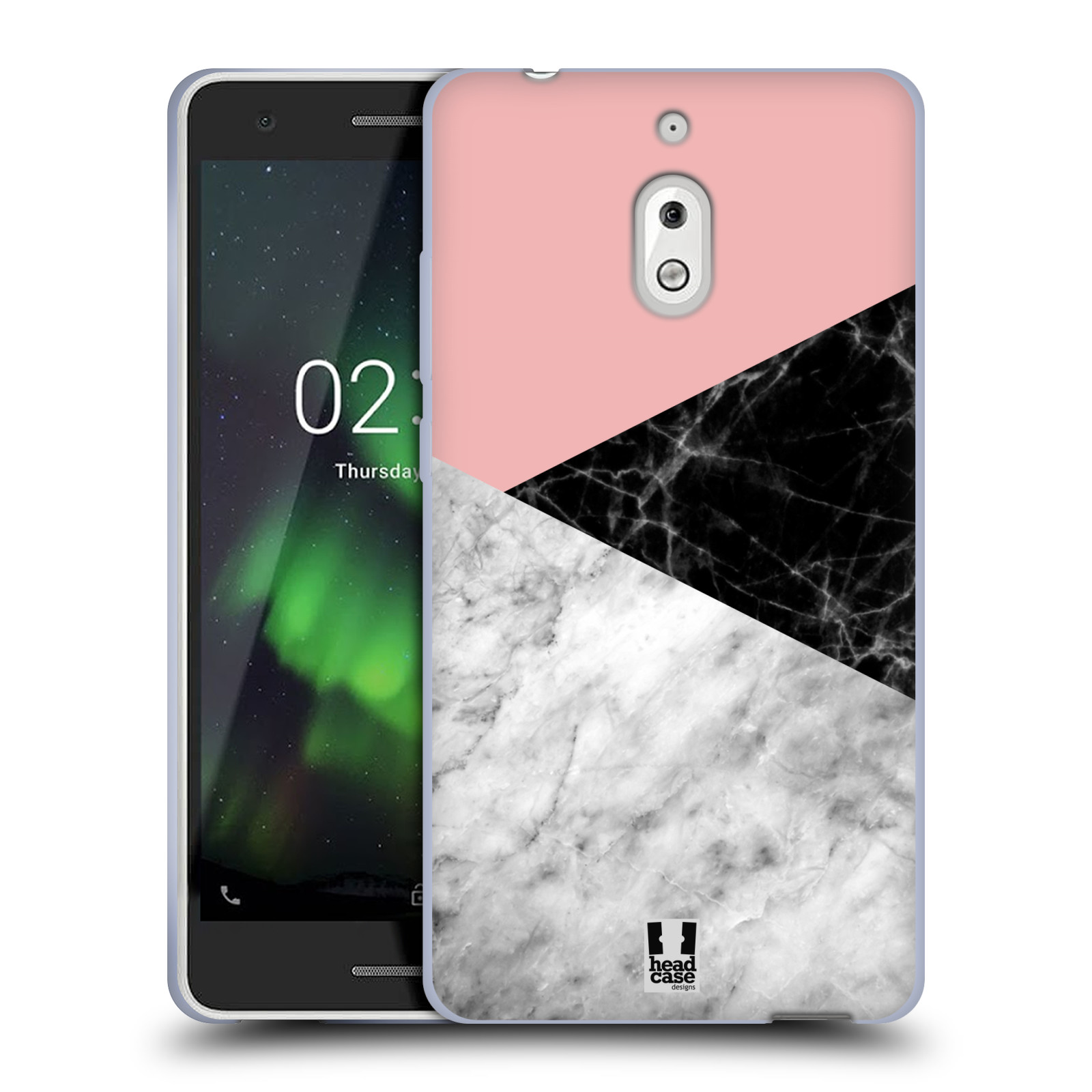 Silikonové pouzdro na mobil Nokia 2.1 - Head Case - Mramor mix