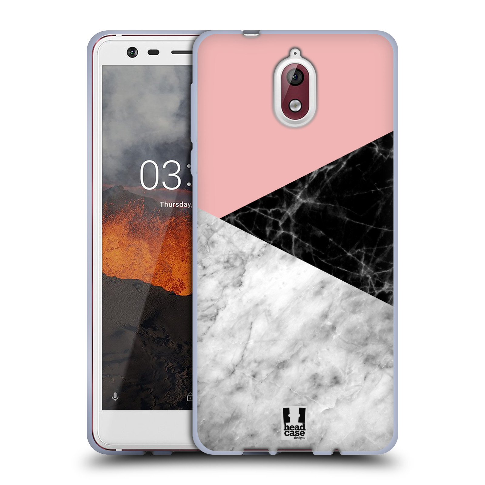 Silikonové pouzdro na mobil Nokia 3.1 - Head Case - Mramor mix