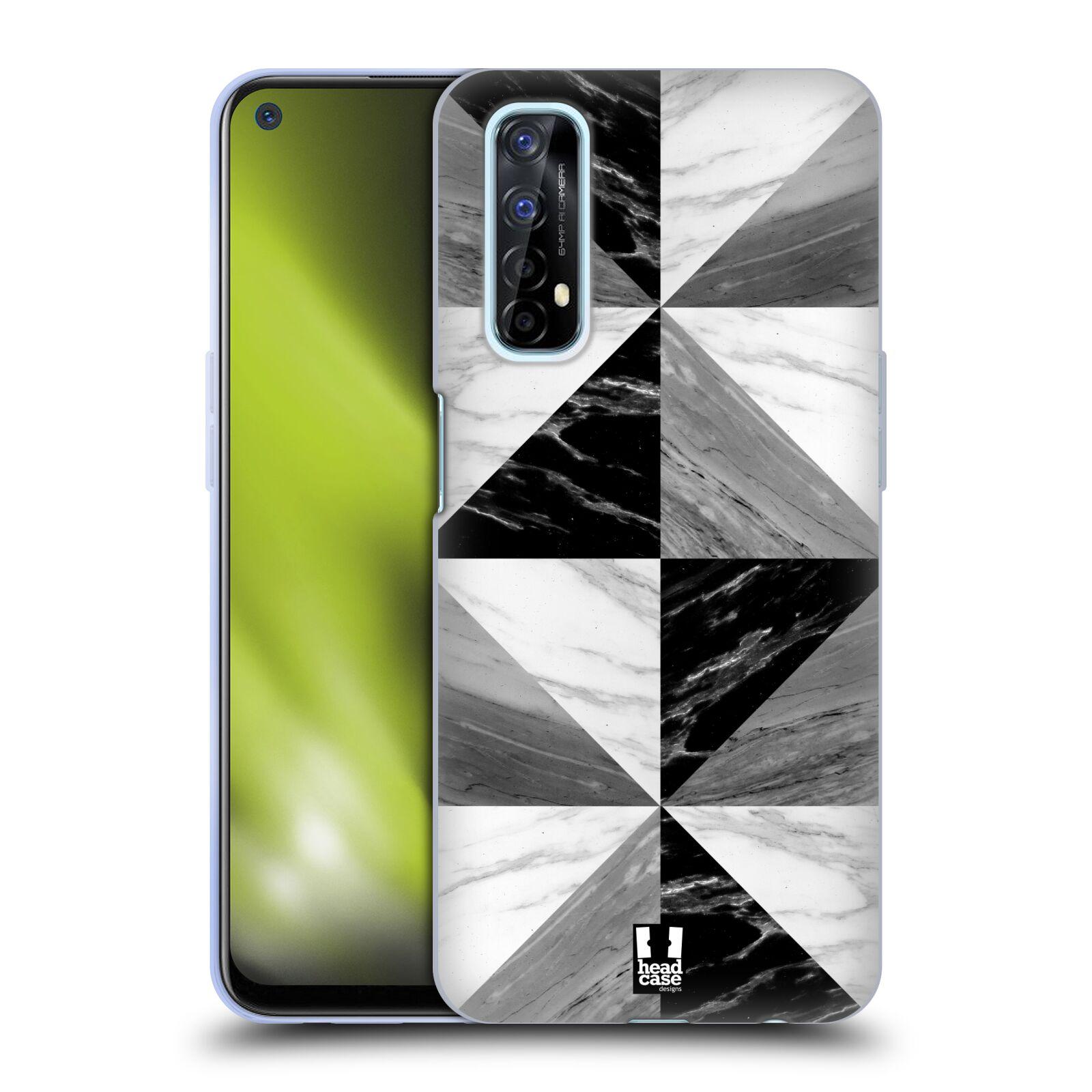 Silikonové pouzdro na mobil Realme 7 - Head Case - Mramor triangl