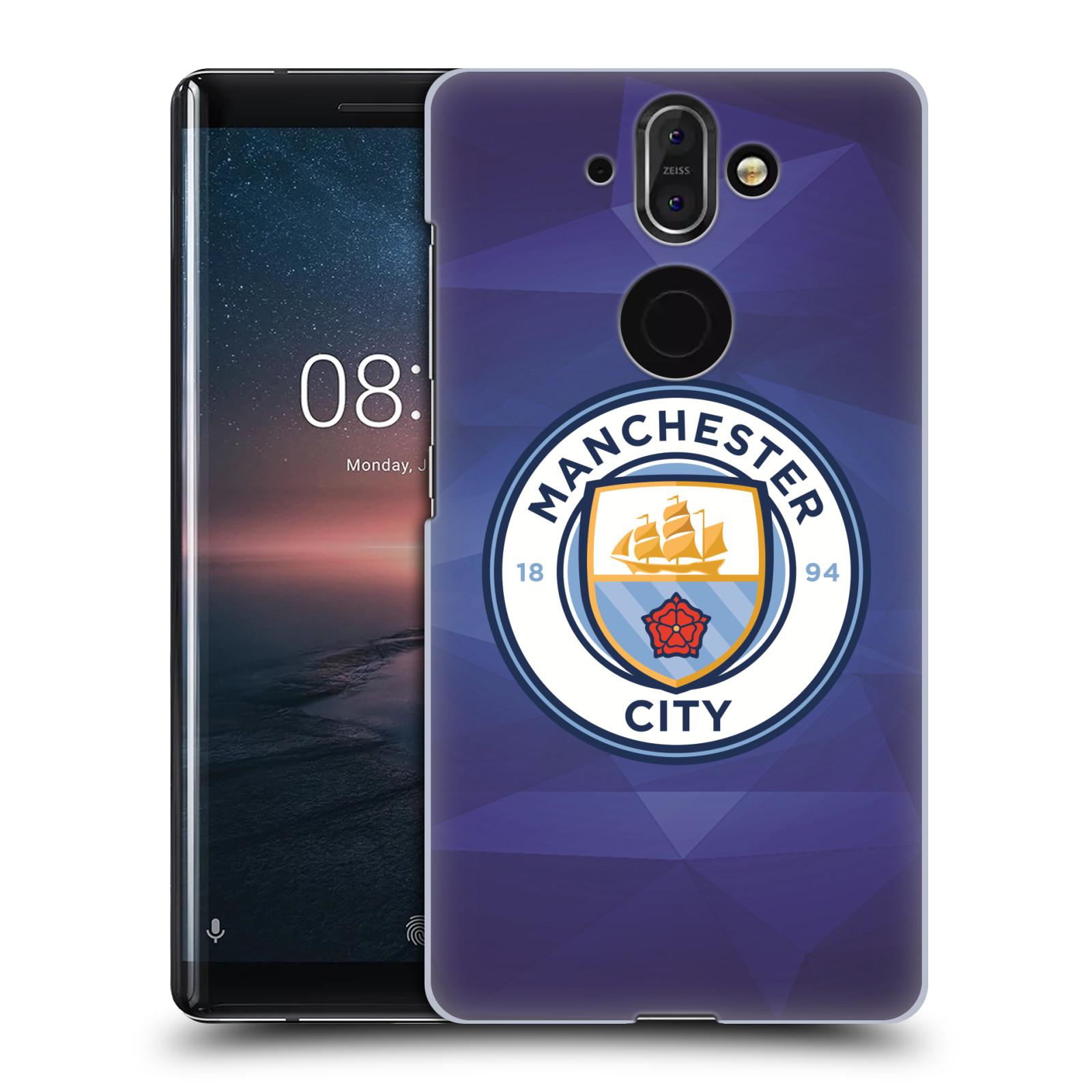 Plastové pouzdro na mobil Nokia 8 Sirocco - Head Case - Manchester City FC - Modré nové logo