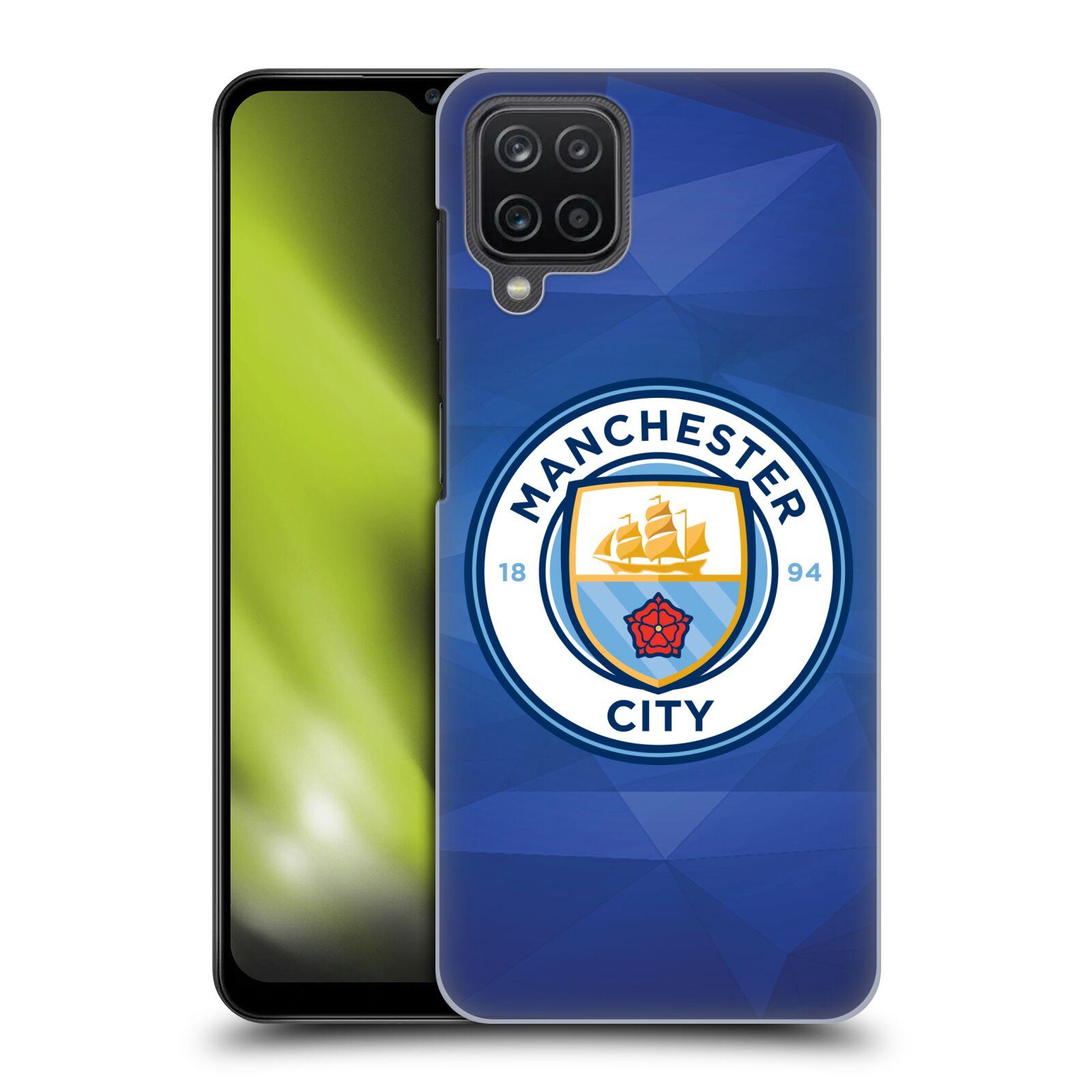 Plastové pouzdro na mobil Samsung Galaxy A12 - Head Case - Manchester City FC - Modré nové logo