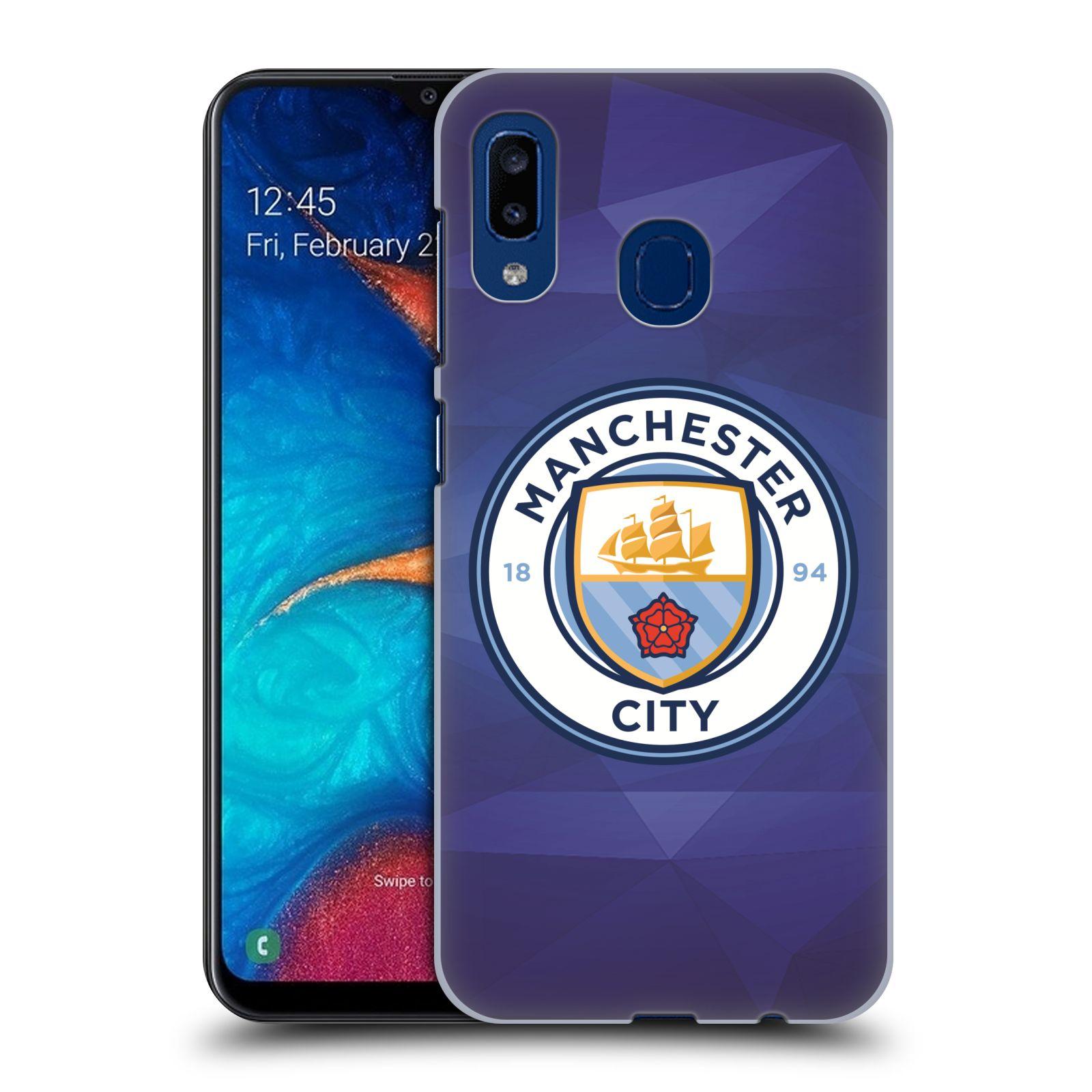 Plastové pouzdro na mobil Samsung Galaxy A20 - Head Case - Manchester City FC - Modré nové logo