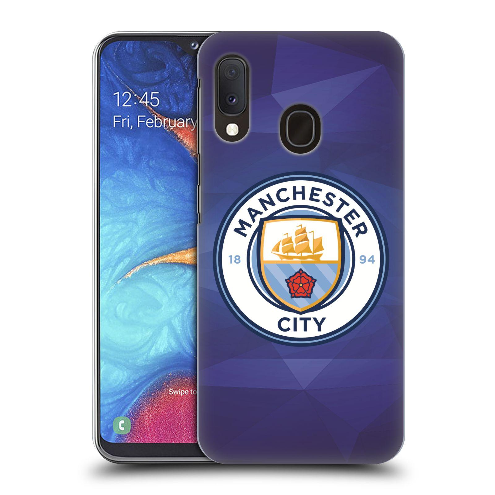 Plastové pouzdro na mobil Samsung Galaxy A20e - Head Case - Manchester City FC - Modré nové logo