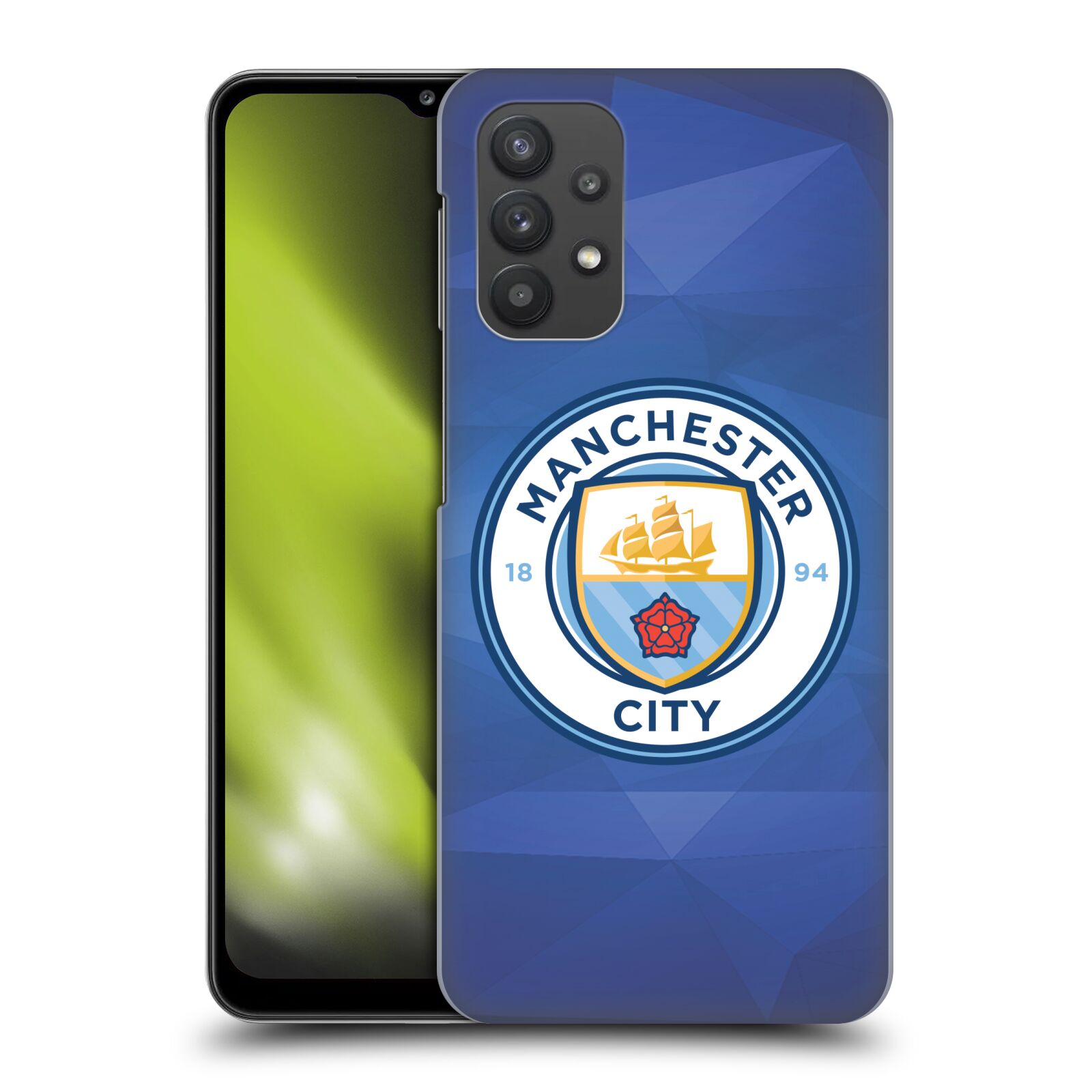 Plastové pouzdro na mobil Samsung Galaxy A32 5G - Head Case - Manchester City FC - Modré nové logo