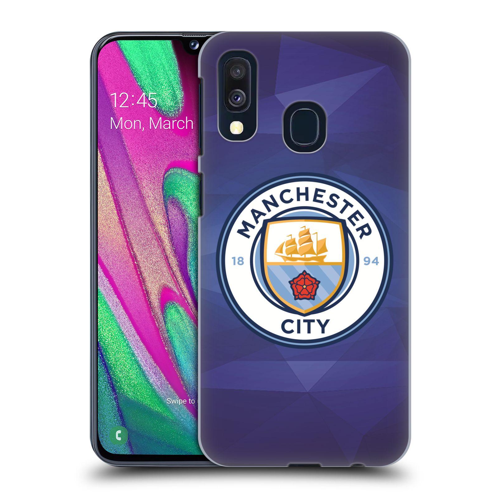 Plastové pouzdro na mobil Samsung Galaxy A40 - Head Case - Manchester City FC - Modré nové logo