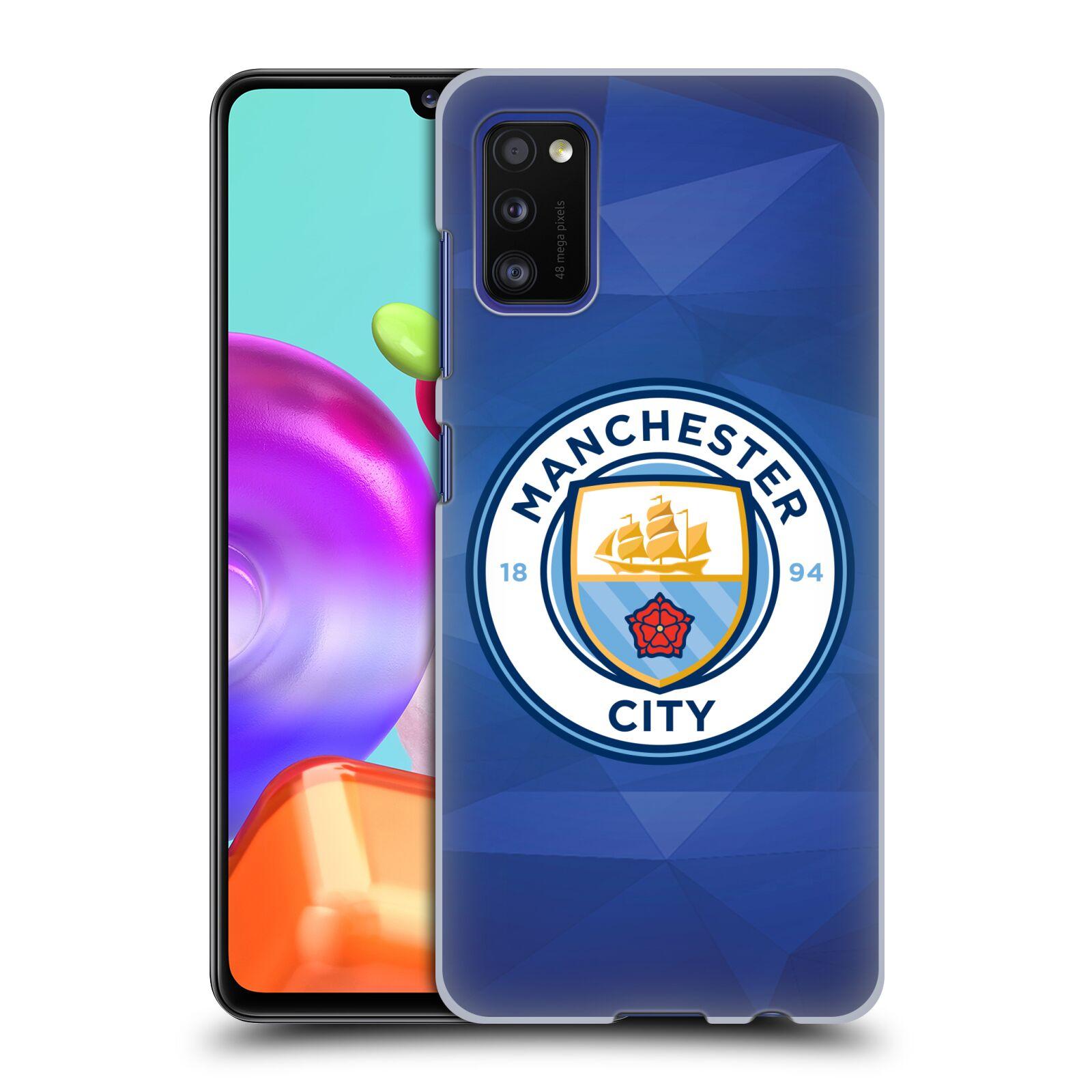 Plastové pouzdro na mobil Samsung Galaxy A41 - Head Case - Manchester City FC - Modré nové logo