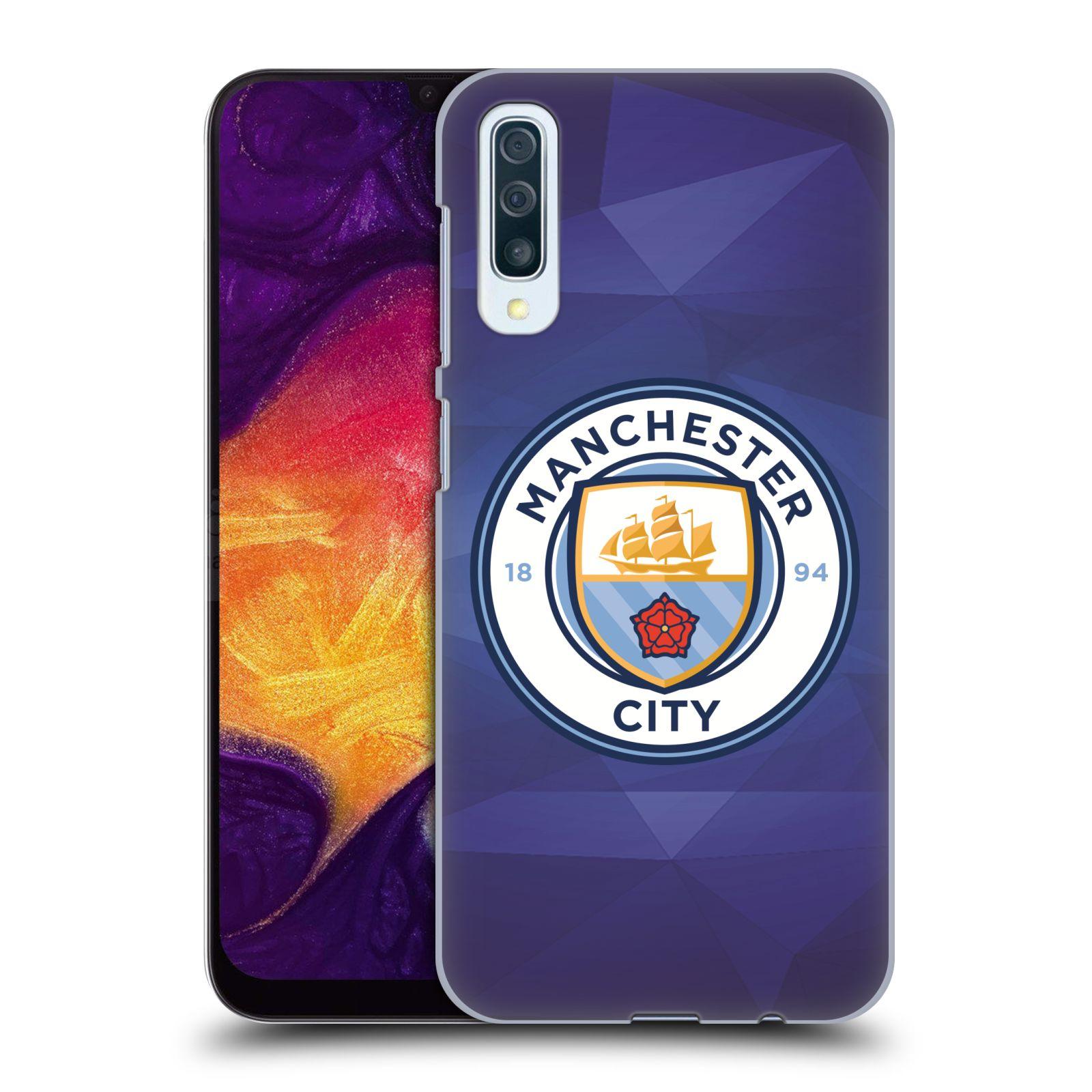 Plastové pouzdro na mobil Samsung Galaxy A50 - Head Case - Manchester City FC - Modré nové logo