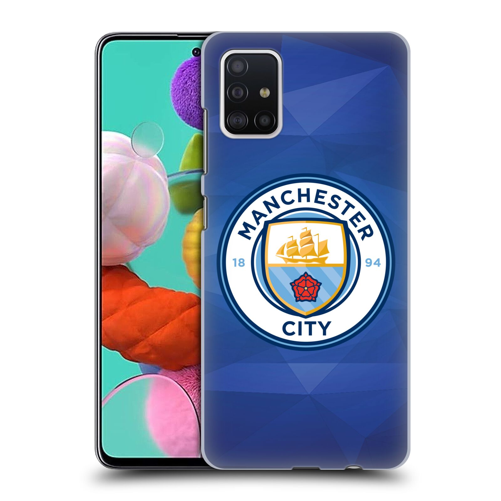 Plastové pouzdro na mobil Samsung Galaxy A51 - Head Case - Manchester City FC - Modré nové logo