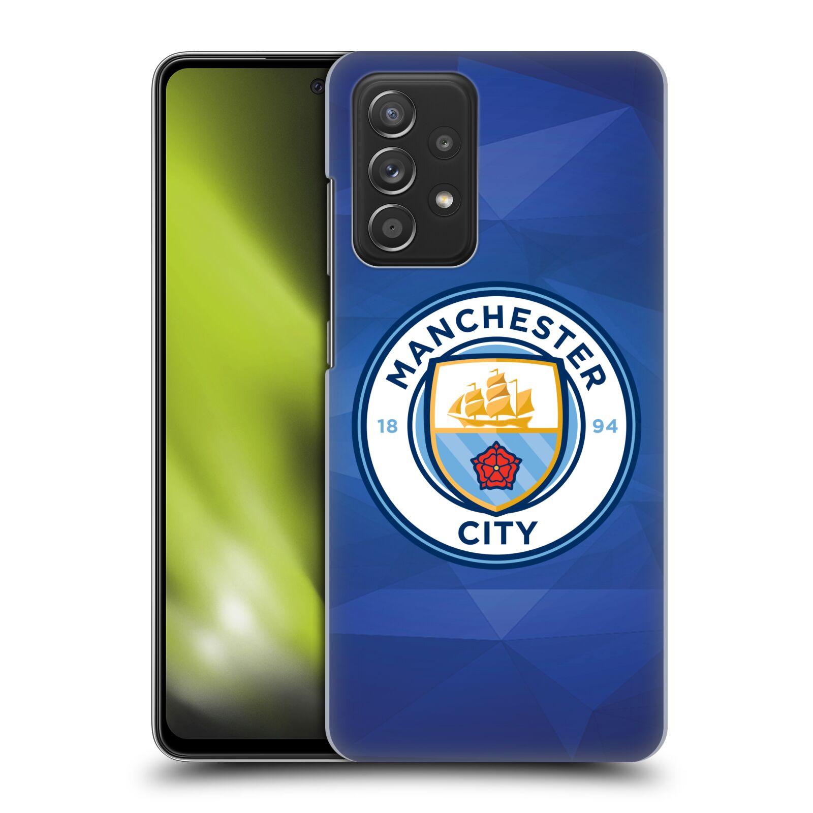 Plastové pouzdro na mobil Samsung Galaxy A52 / A52 5G / A52s 5G - Head Case - Manchester City FC - Modré nové logo
