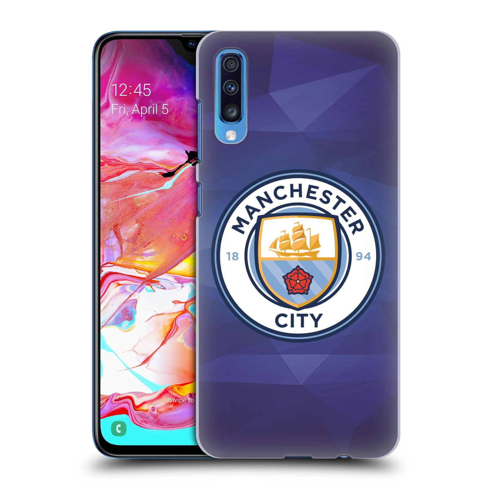 Plastové pouzdro na mobil Samsung Galaxy A70 - Head Case - Manchester City FC - Modré nové logo