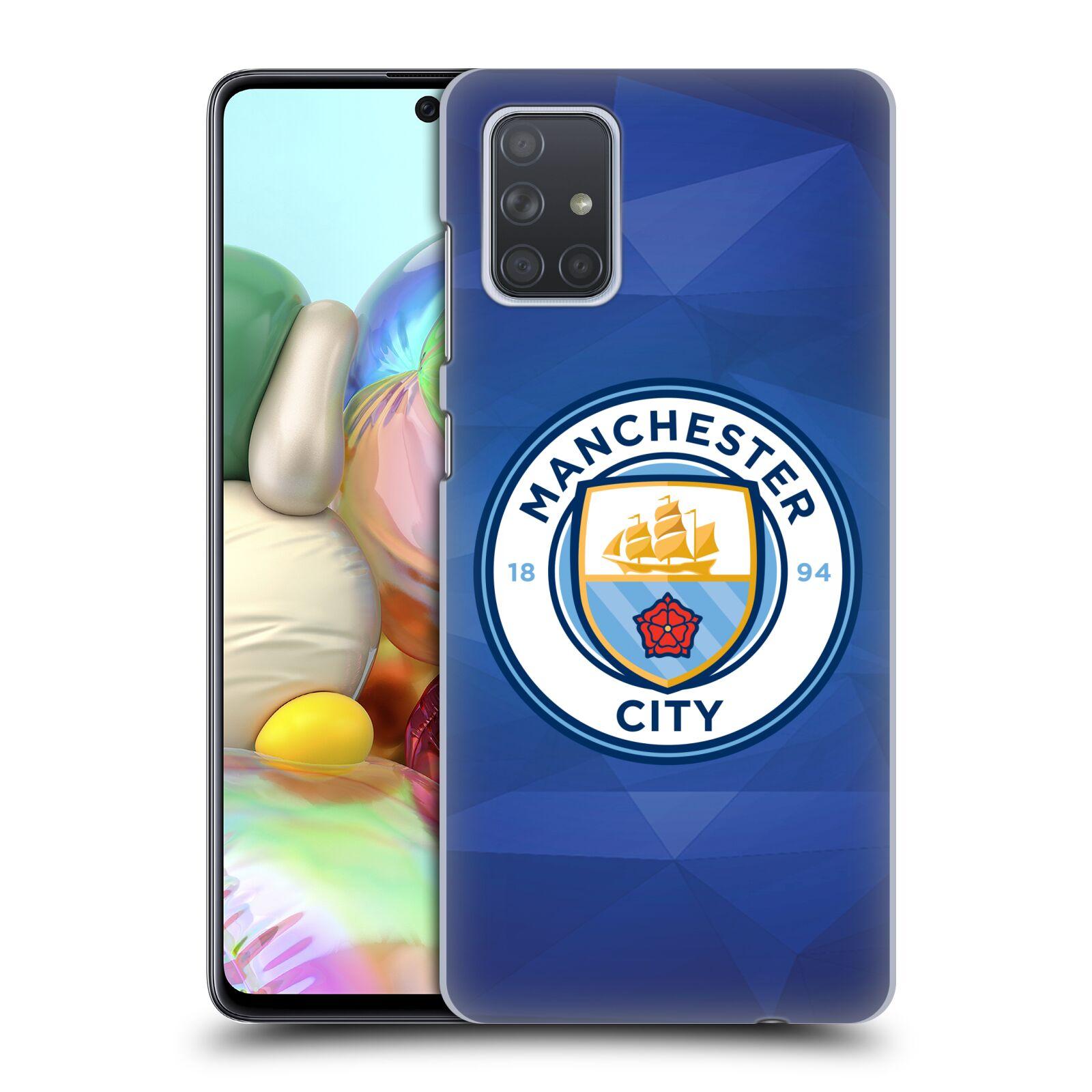 Plastové pouzdro na mobil Samsung Galaxy A71 - Head Case - Manchester City FC - Modré nové logo