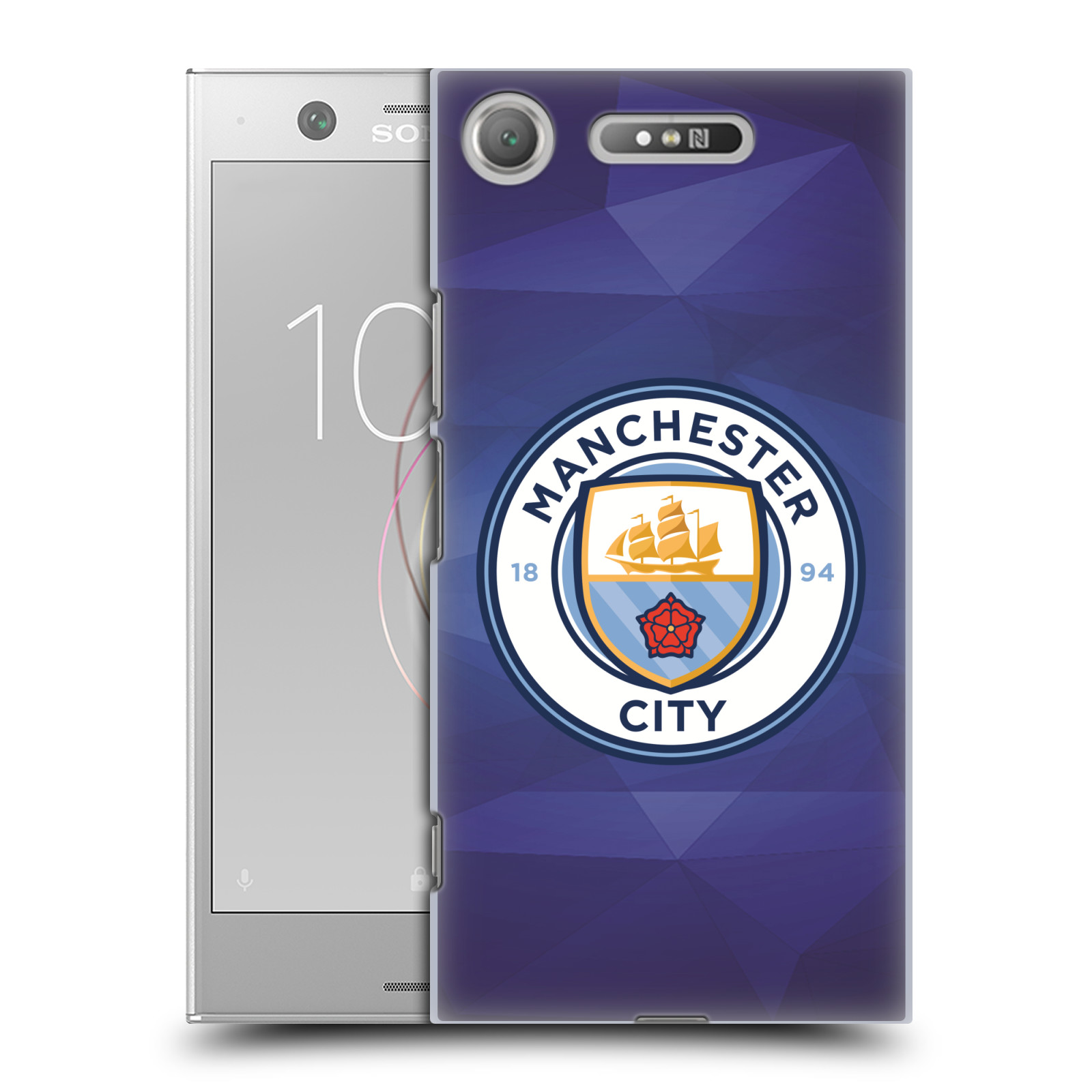 Plastové pouzdro na mobil Sony Xperia XZ1 - Head Case - Manchester City FC - Modré nové logo