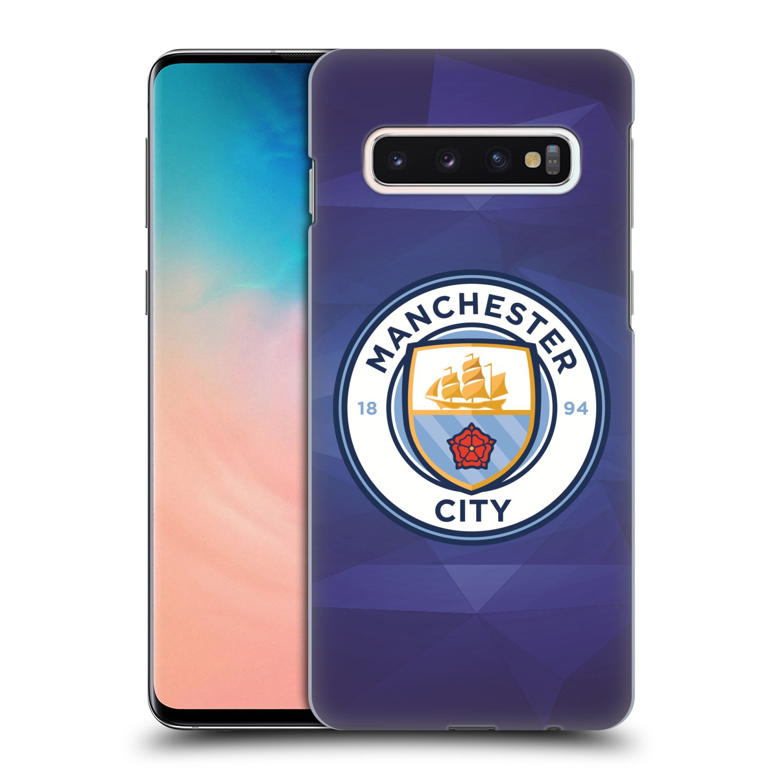 Plastové pouzdro na mobil Samsung Galaxy S10 - Head Case - Manchester City FC - Modré nové logo