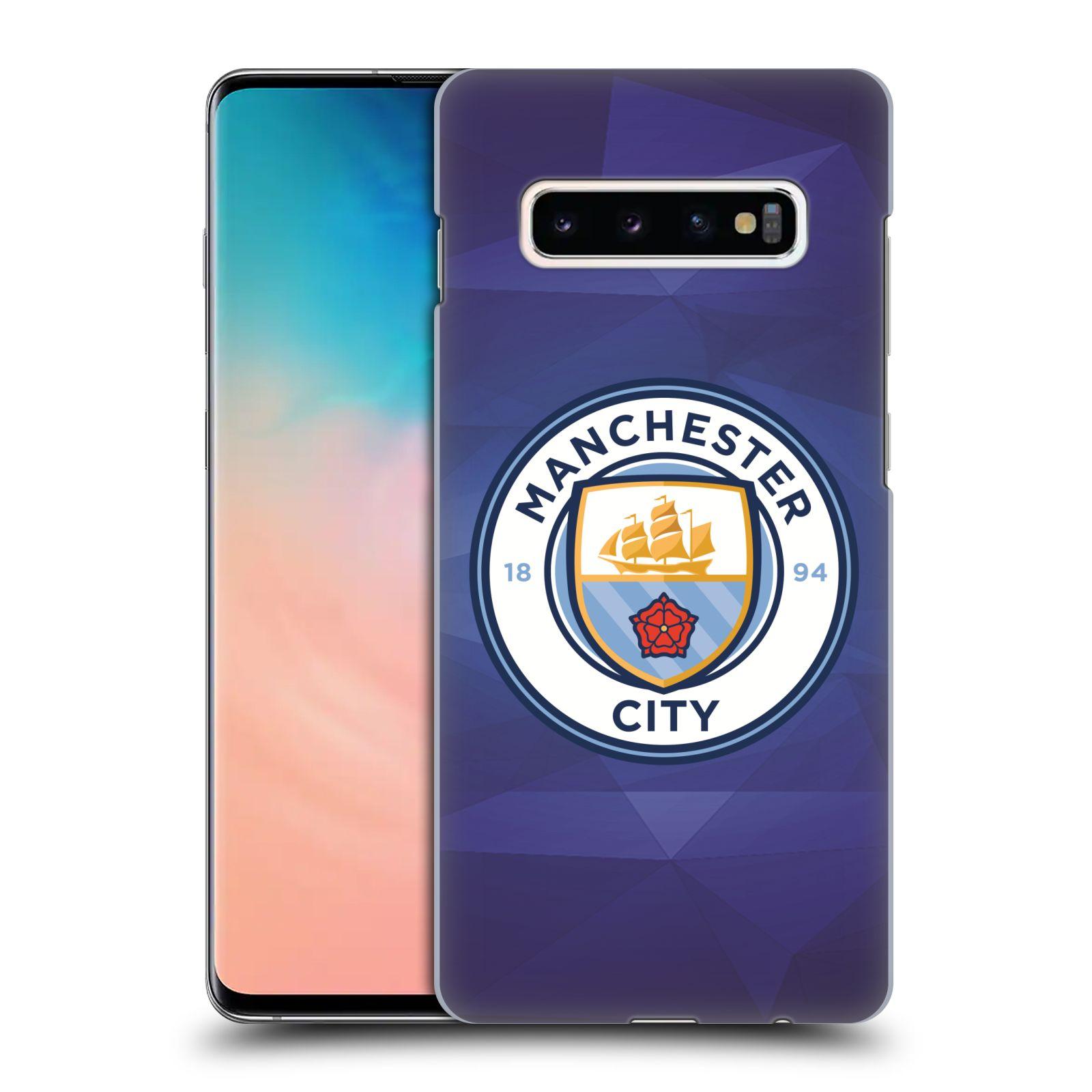 Plastové pouzdro na mobil Samsung Galaxy S10 Plus - Head Case - Manchester City FC - Modré nové logo
