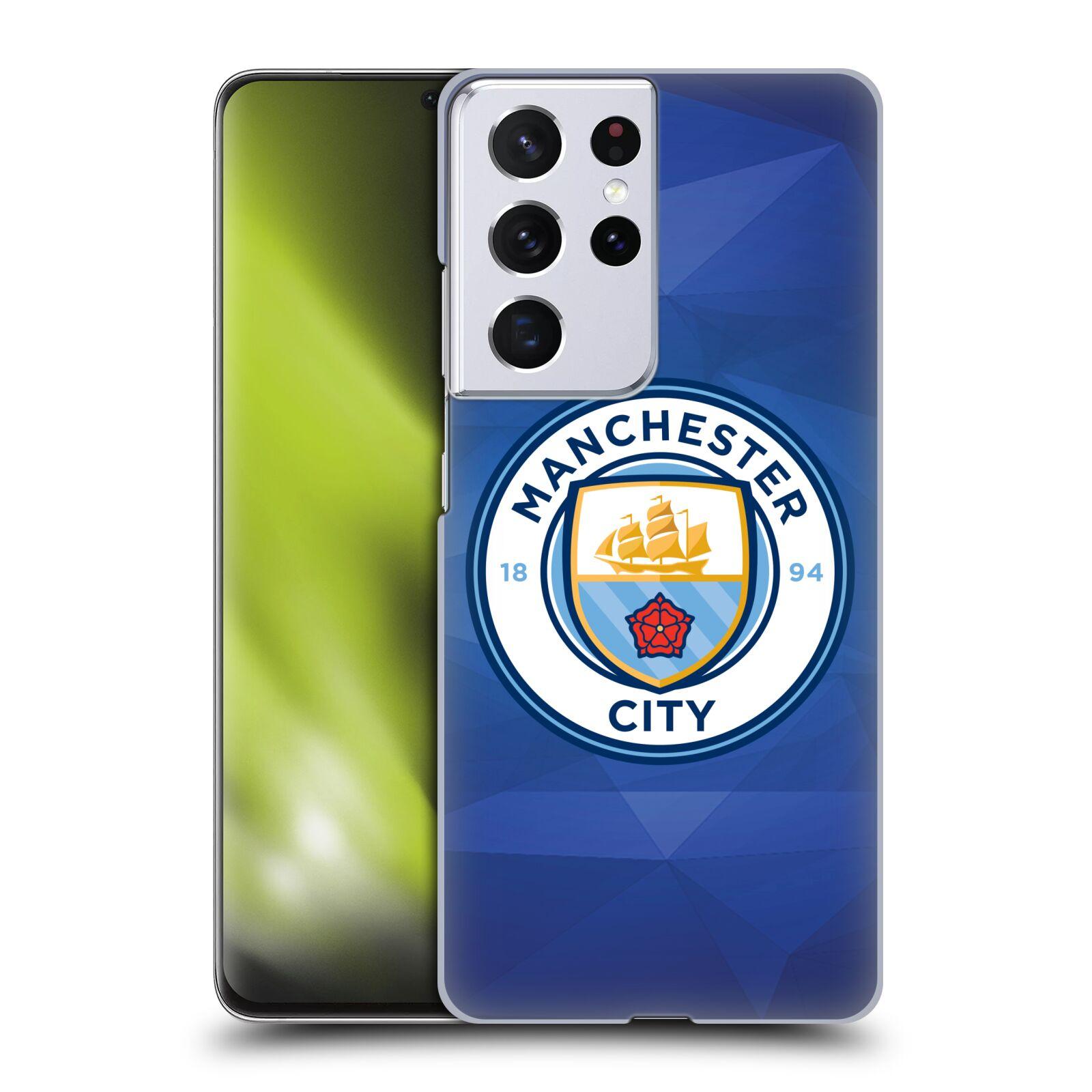 Plastové pouzdro na mobil Samsung Galaxy S21 Ultra 5G - Head Case - Manchester City FC - Modré nové logo
