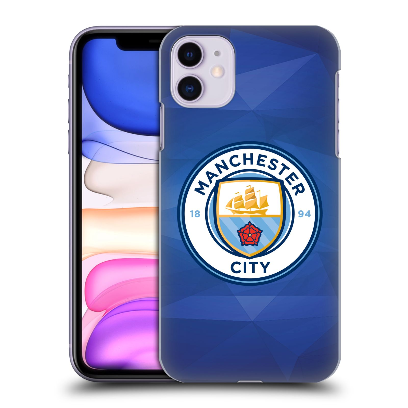 Plastové pouzdro na mobil Apple iPhone 11 - Head Case - Manchester City FC - Modré nové logo