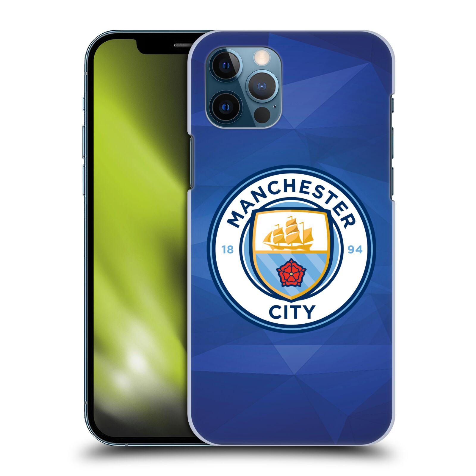 Plastové pouzdro na mobil Apple iPhone 12 / 12 Pro - Head Case - Manchester City FC - Modré nové logo