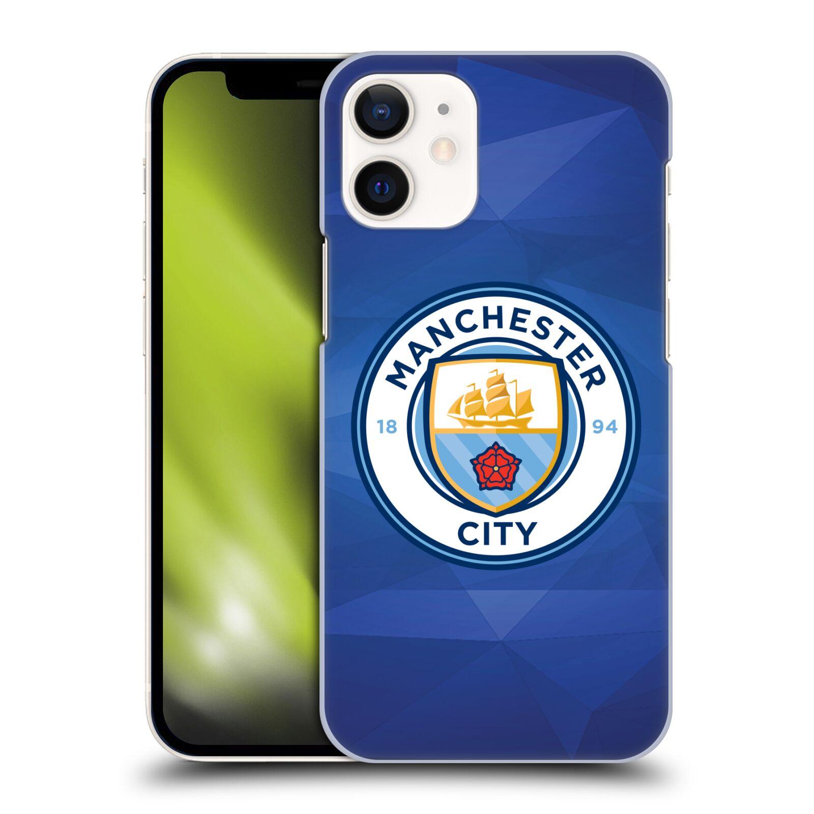 Plastové pouzdro na mobil Apple iPhone 12 Mini - Head Case - Manchester City FC - Modré nové logo