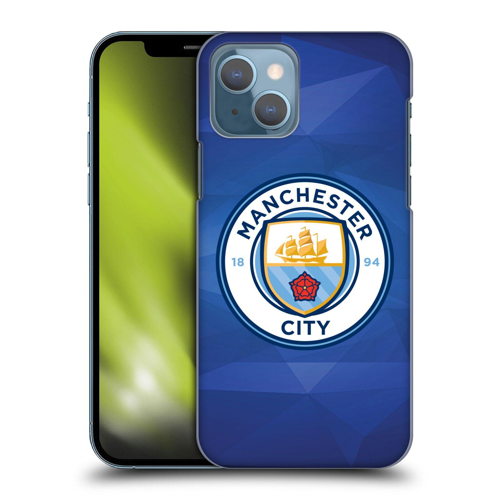 Plastové pouzdro na mobil Apple iPhone 13 - Head Case - Manchester City FC - Modré nové logo