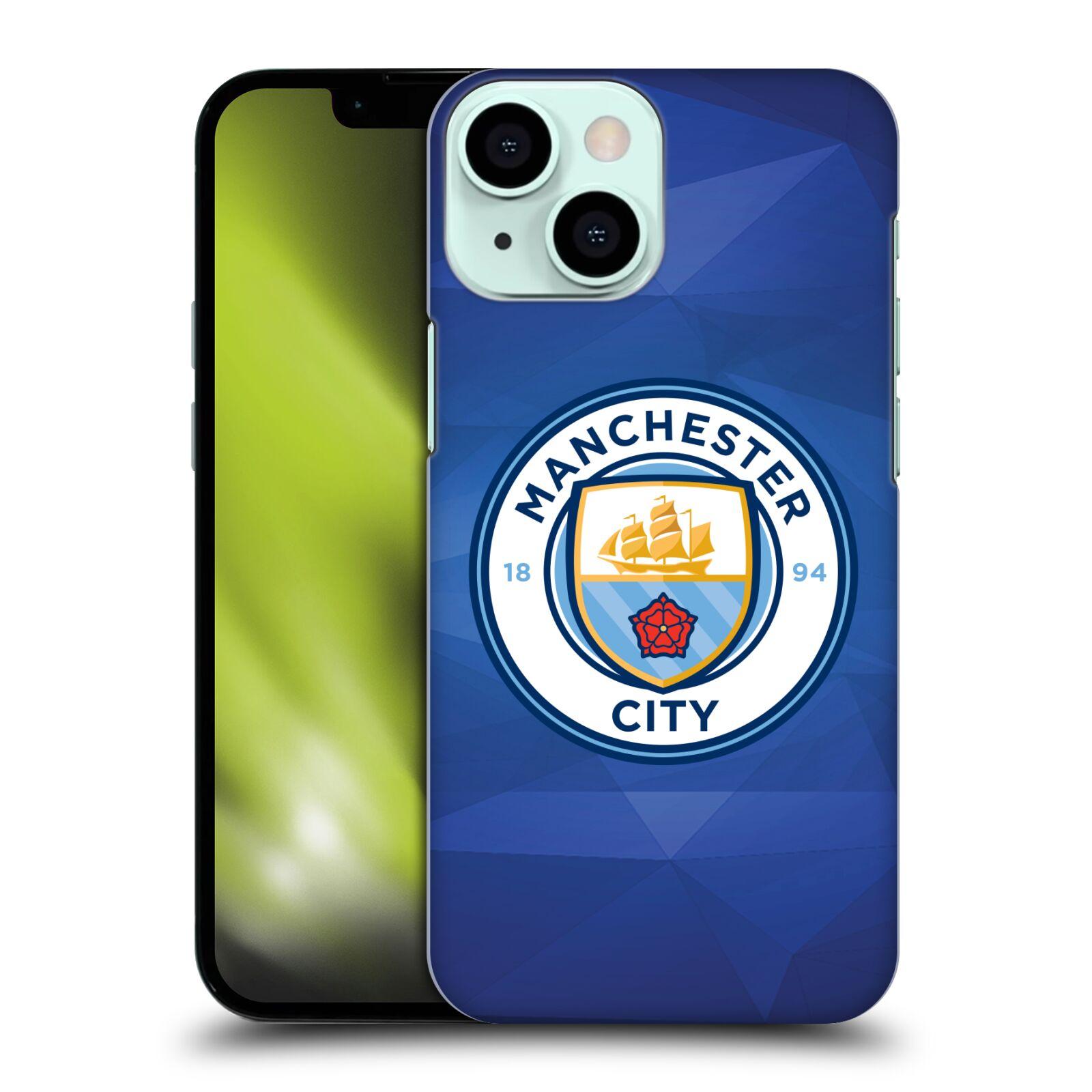 Plastové pouzdro na mobil Apple iPhone 13 Mini - Head Case - Manchester City FC - Modré nové logo