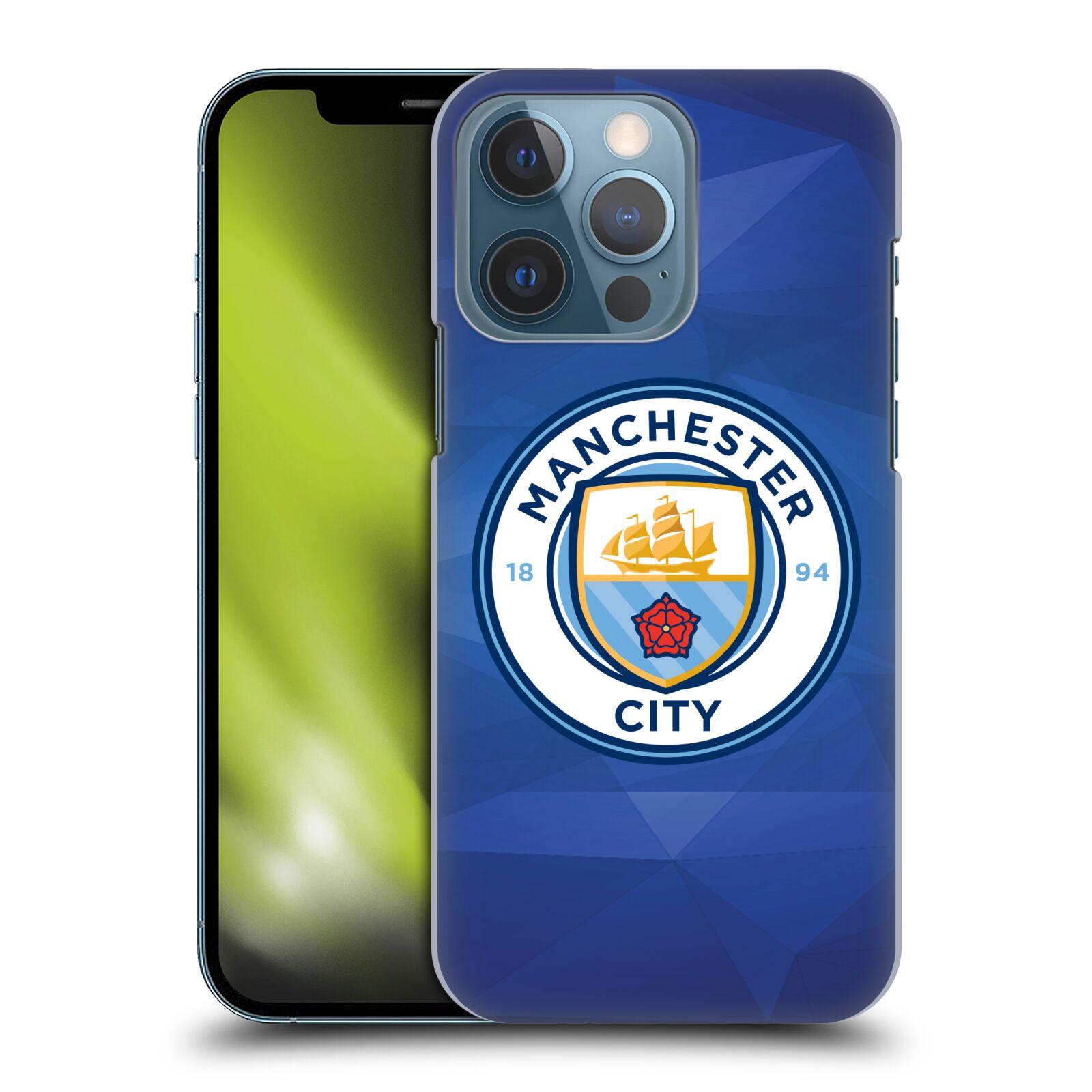 Plastové pouzdro na mobil Apple iPhone 13 Pro - Head Case - Manchester City FC - Modré nové logo