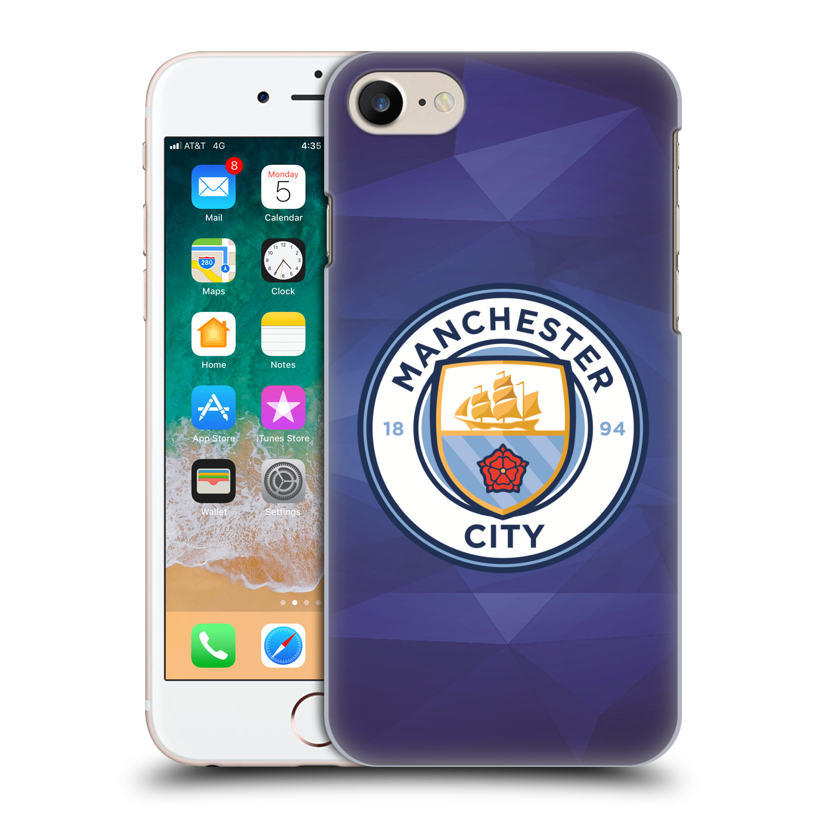 Plastové pouzdro na mobil Apple iPhone SE (2020) - Head Case - Manchester City FC - Modré nové logo