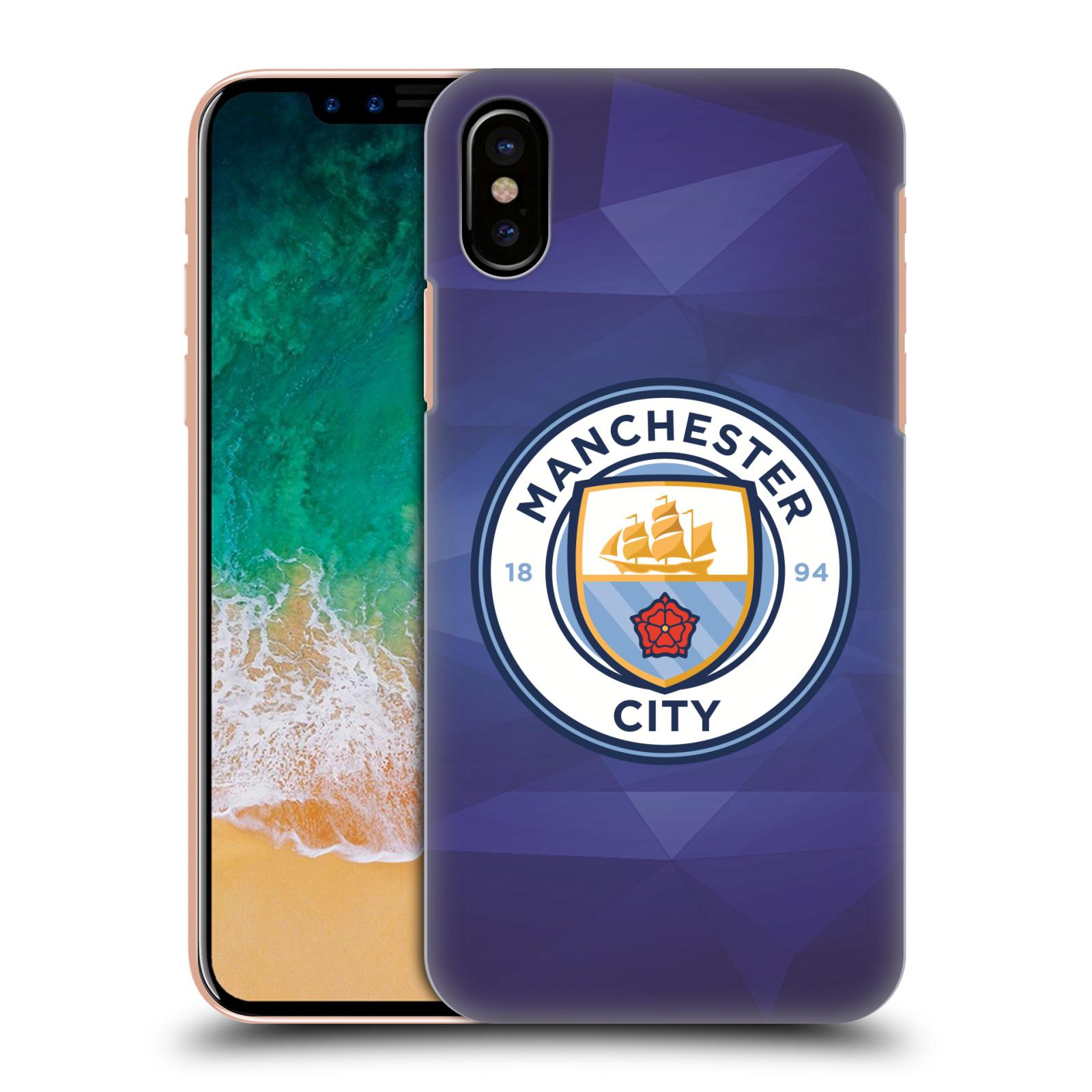 Plastové pouzdro na mobil Apple iPhone X - Head Case - Manchester City FC - Modré nové logo (Plastový kryt či obal na mobilní telefon Apple iPhone X s motivem Manchester City FC - Modré nové logo)
