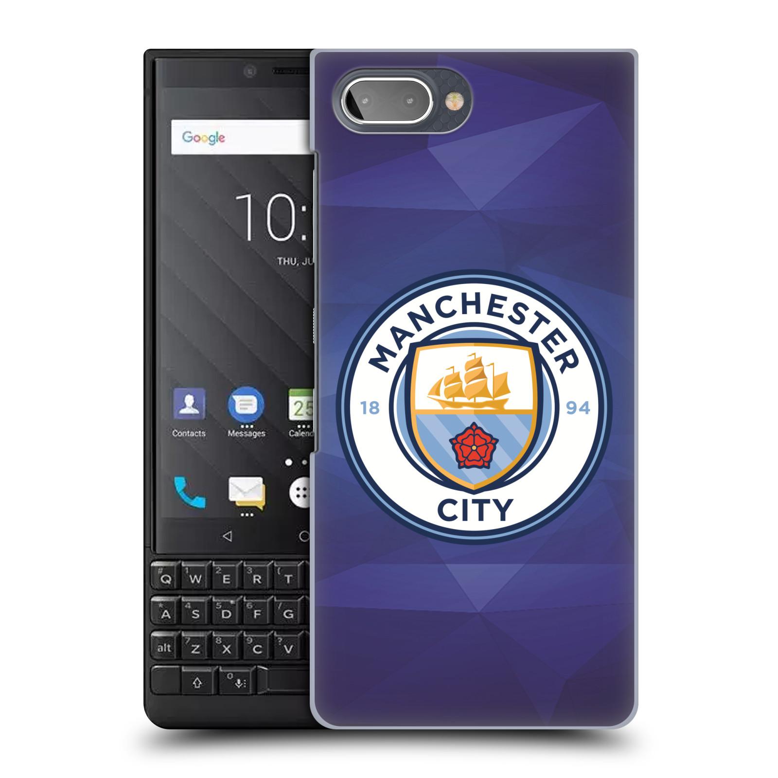Plastové pouzdro na mobil Blackberry Key 2 - Head Case - Manchester City FC - Modré nové logo
