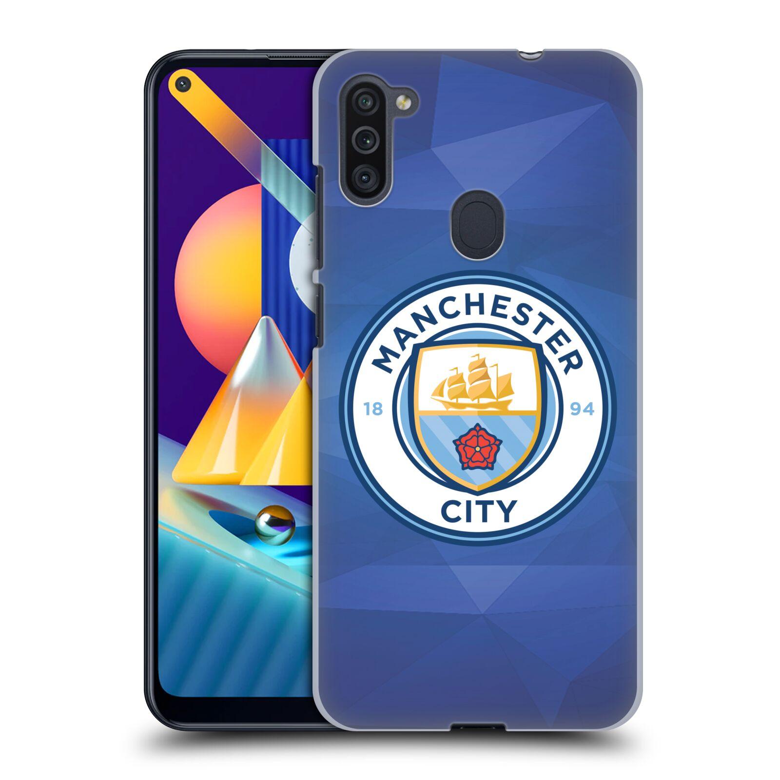 Plastové pouzdro na mobil Samsung Galaxy M11 - Head Case - Manchester City FC - Modré nové logo