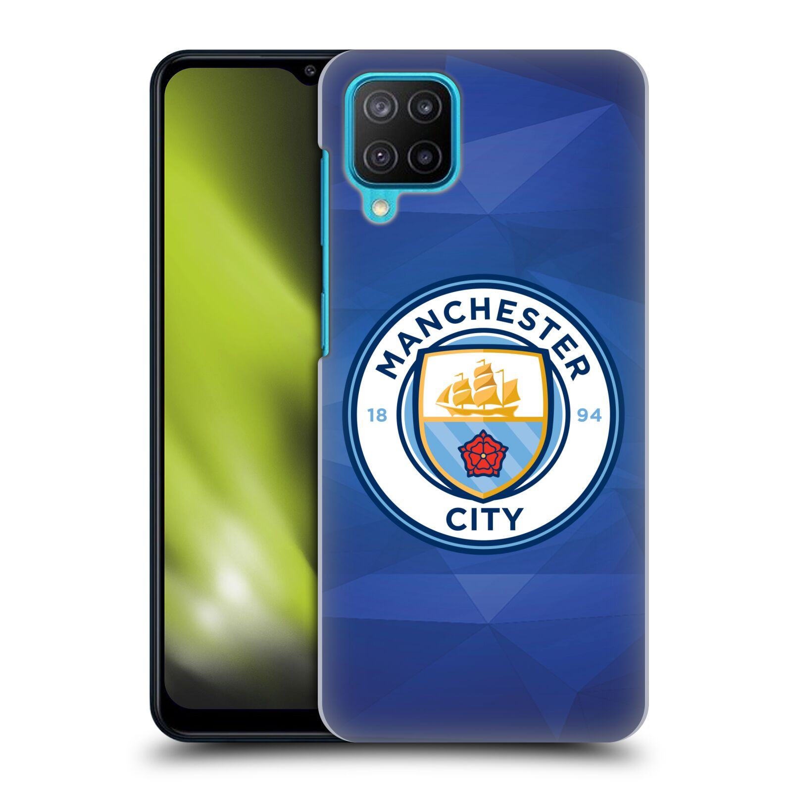 Plastové pouzdro na mobil Samsung Galaxy M12 - Head Case - Manchester City FC - Modré nové logo