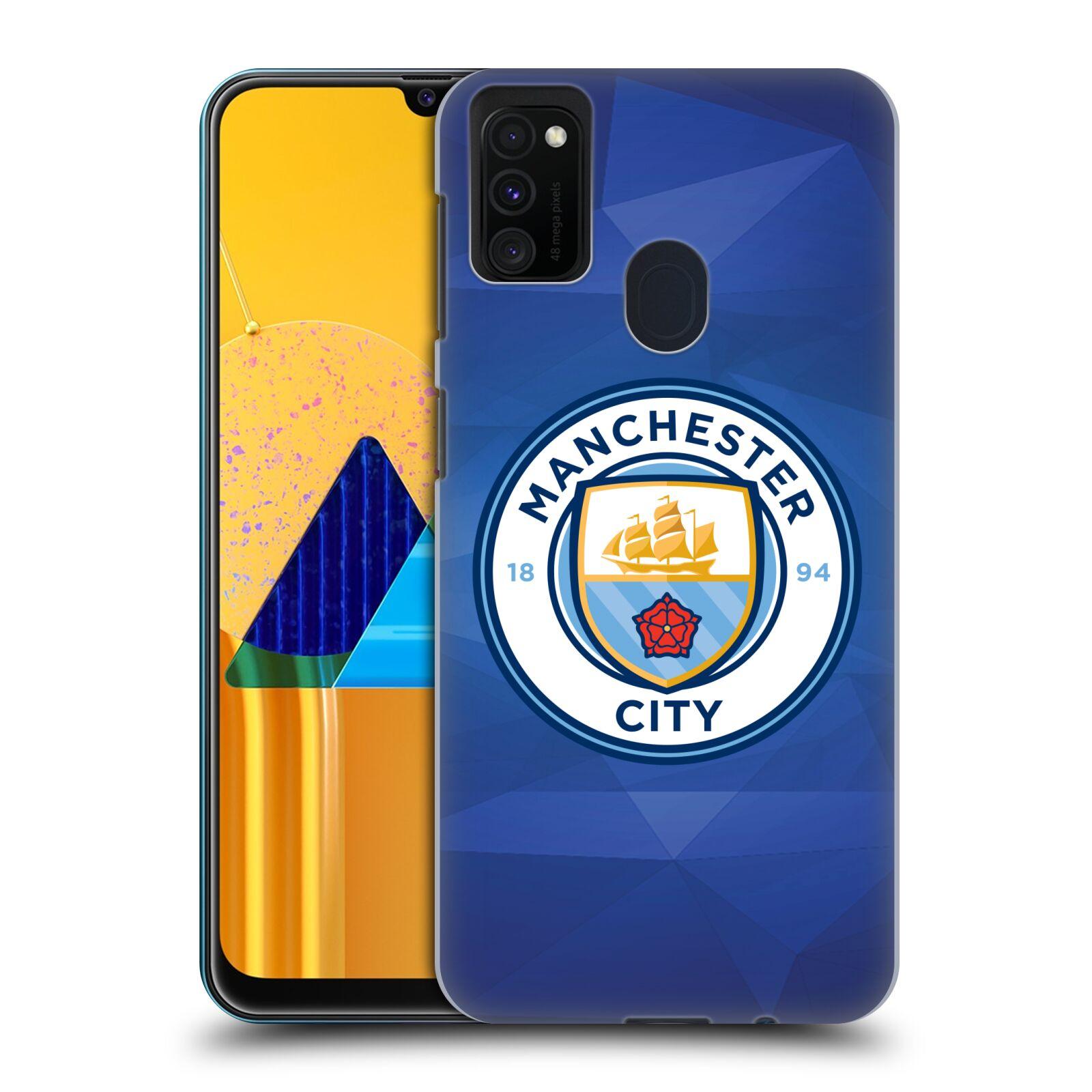 Plastové pouzdro na mobil Samsung Galaxy M21 - Head Case - Manchester City FC - Modré nové logo