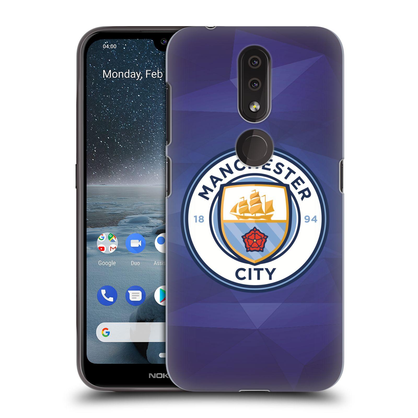 Plastové pouzdro na mobil Nokia 4.2 - Head Case - Manchester City FC - Modré nové logo