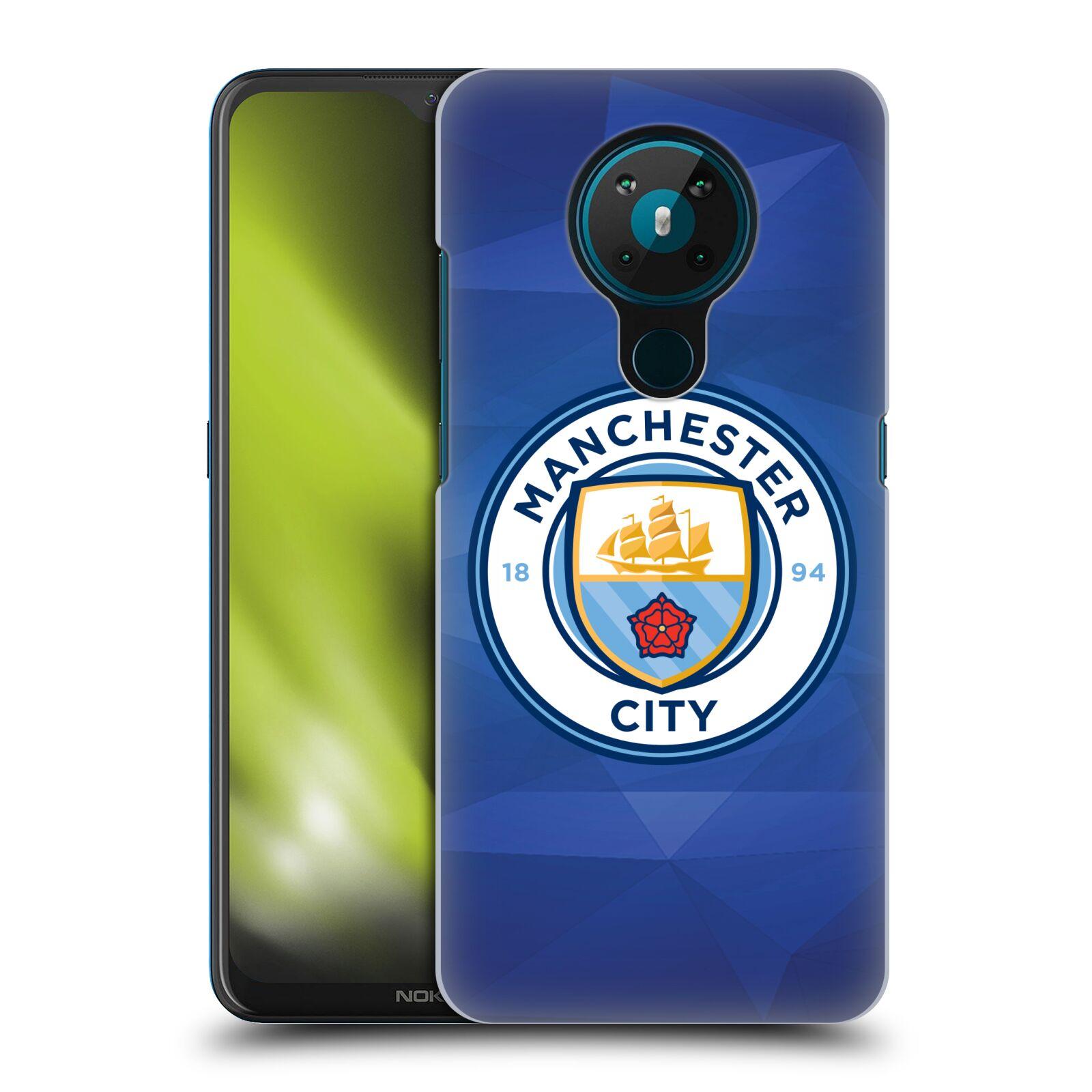 Plastové pouzdro na mobil Nokia 5.3 - Head Case - Manchester City FC - Modré nové logo