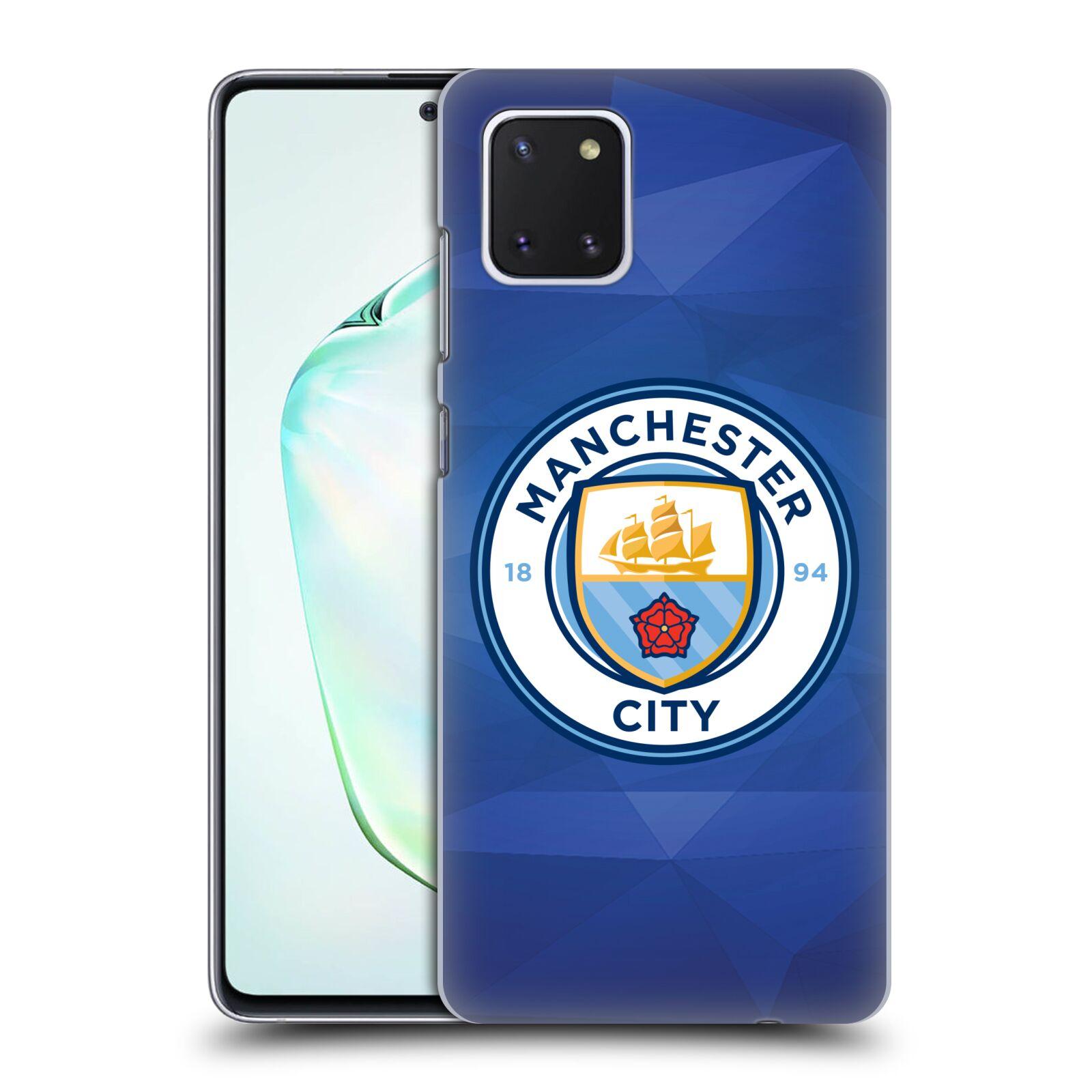 Plastové pouzdro na mobil Samsung Galaxy Note 10 Lite - Head Case - Manchester City FC - Modré nové logo