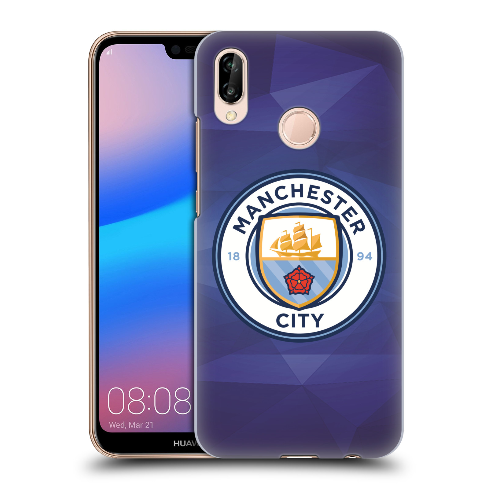 Plastové pouzdro na mobil Huawei P20 Lite - Head Case - Manchester City FC - Modré nové logo