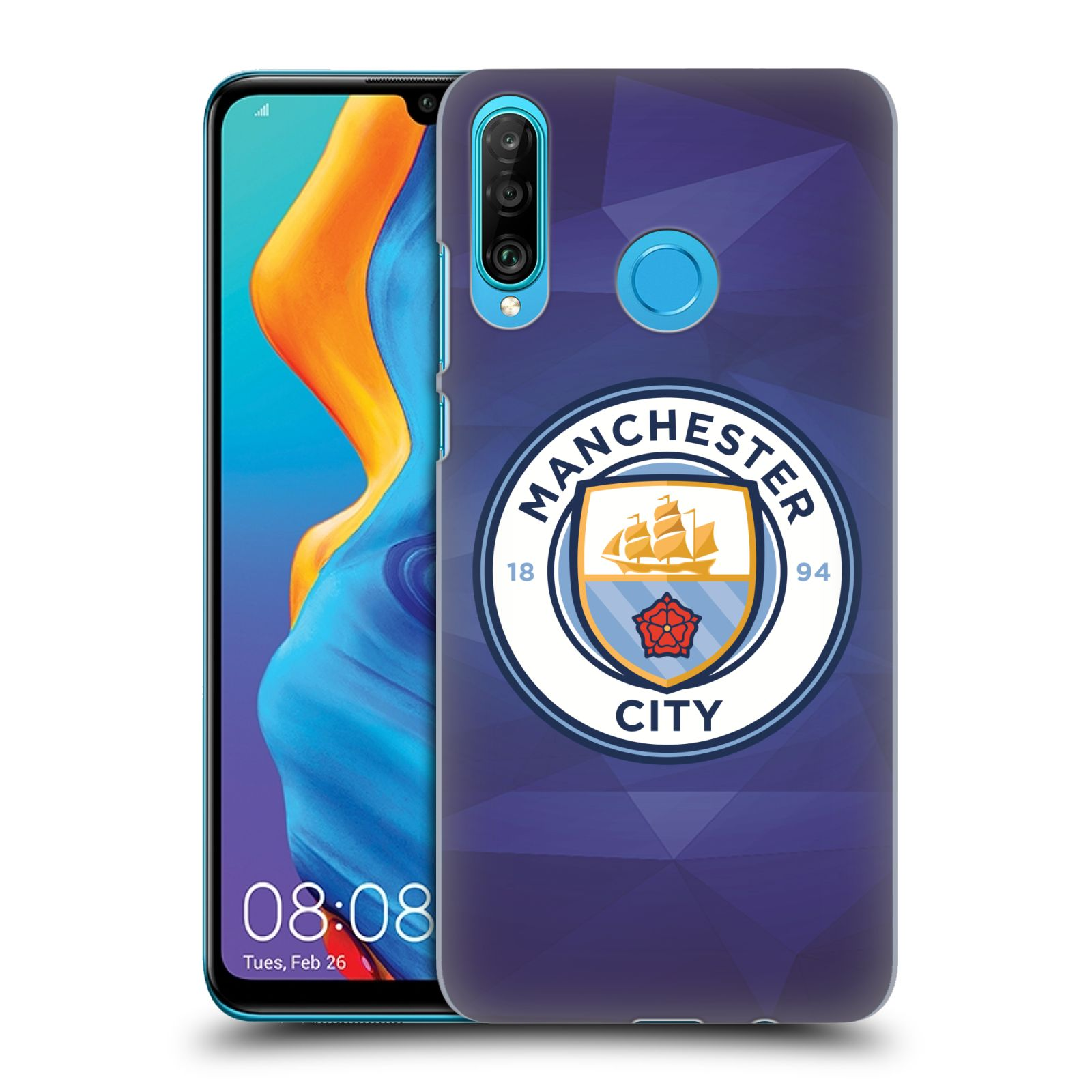 Plastové pouzdro na mobil Huawei P30 Lite - Head Case - Manchester City FC - Modré nové logo