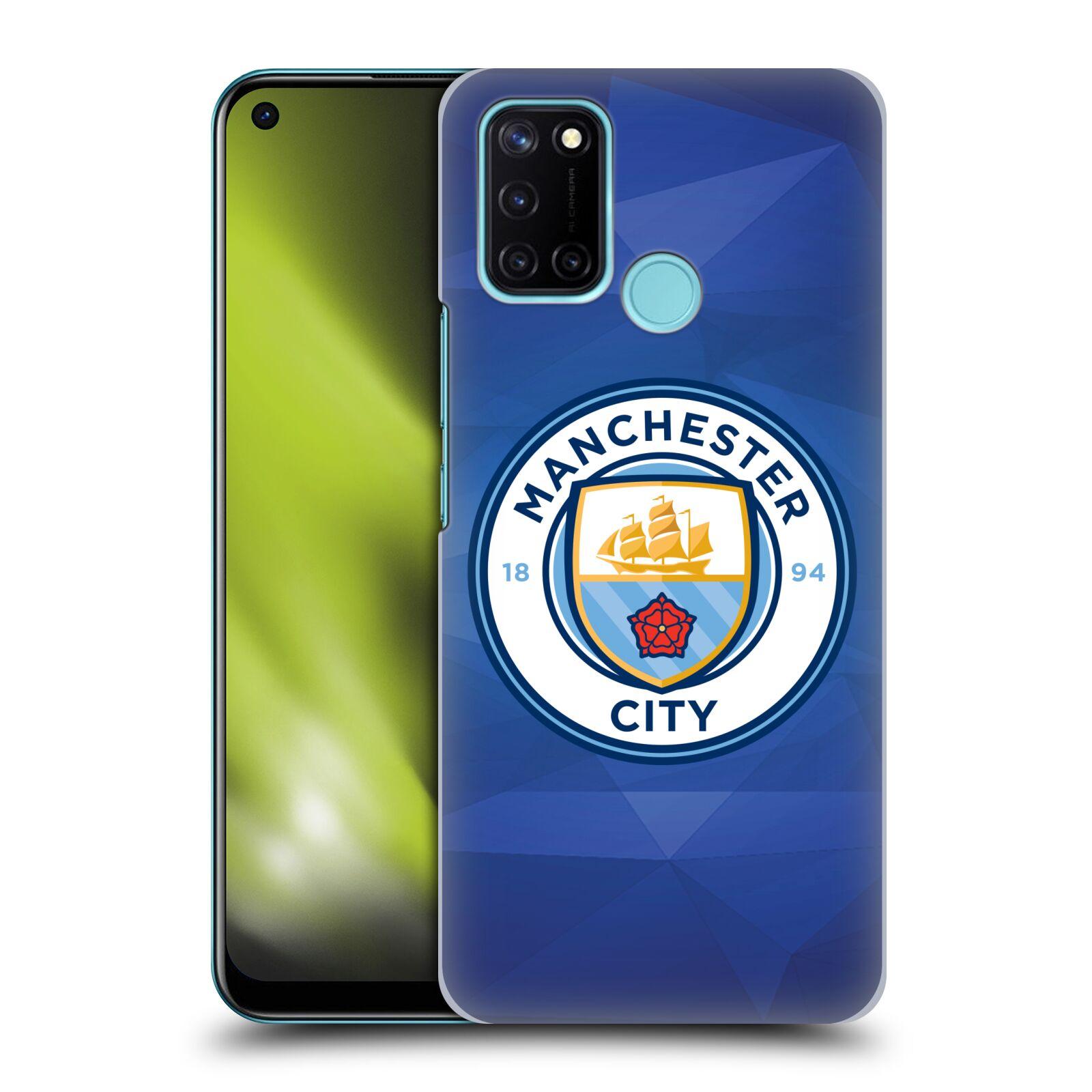 Plastové pouzdro na mobil Realme 7i - Head Case - Manchester City FC - Modré nové logo
