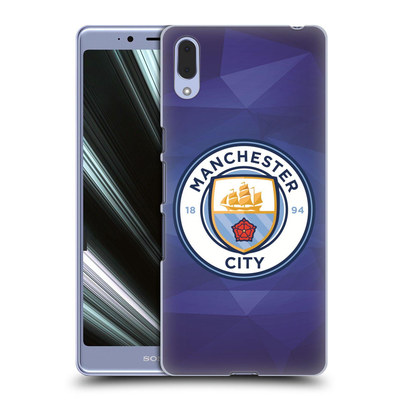 Plastové pouzdro na mobil Sony Xperia L3 - Head Case - Manchester City FC - Modré nové logo