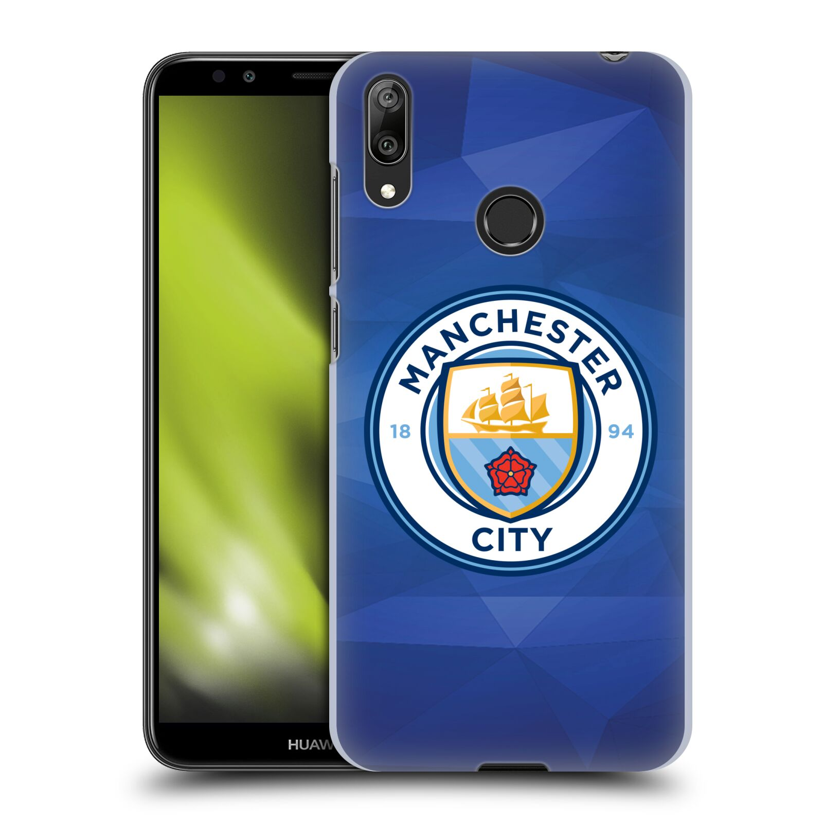 Plastové pouzdro na mobil Huawei Y7 (2019) - Head Case - Manchester City FC - Modré nové logo