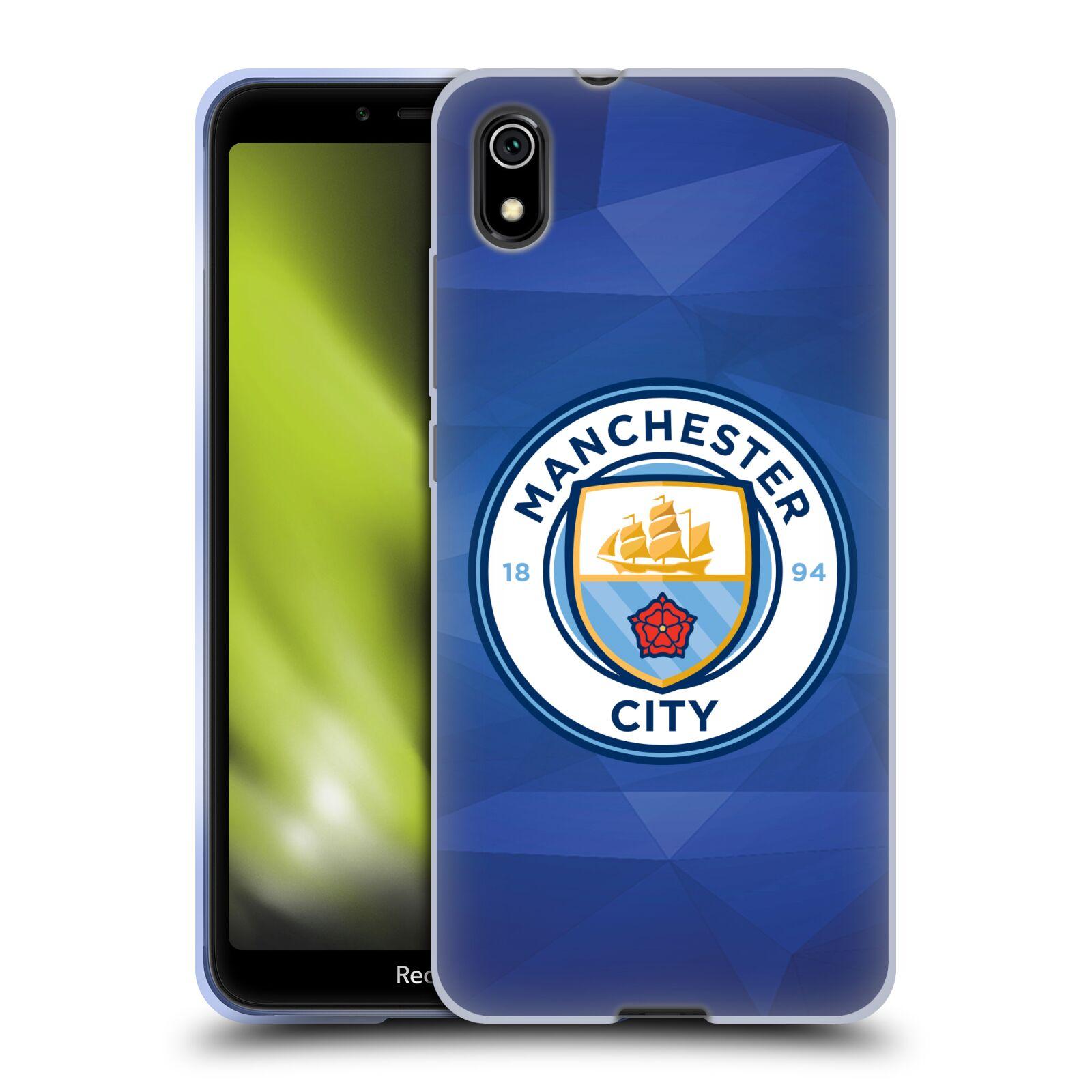 Silikonové pouzdro na mobil Redmi 7A - Head Case - Manchester City FC - Modré nové logo