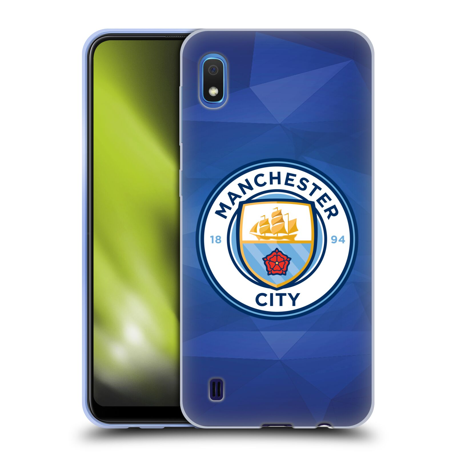Silikonové pouzdro na mobil Samsung Galaxy A10 - Head Case - Manchester City FC - Modré nové logo