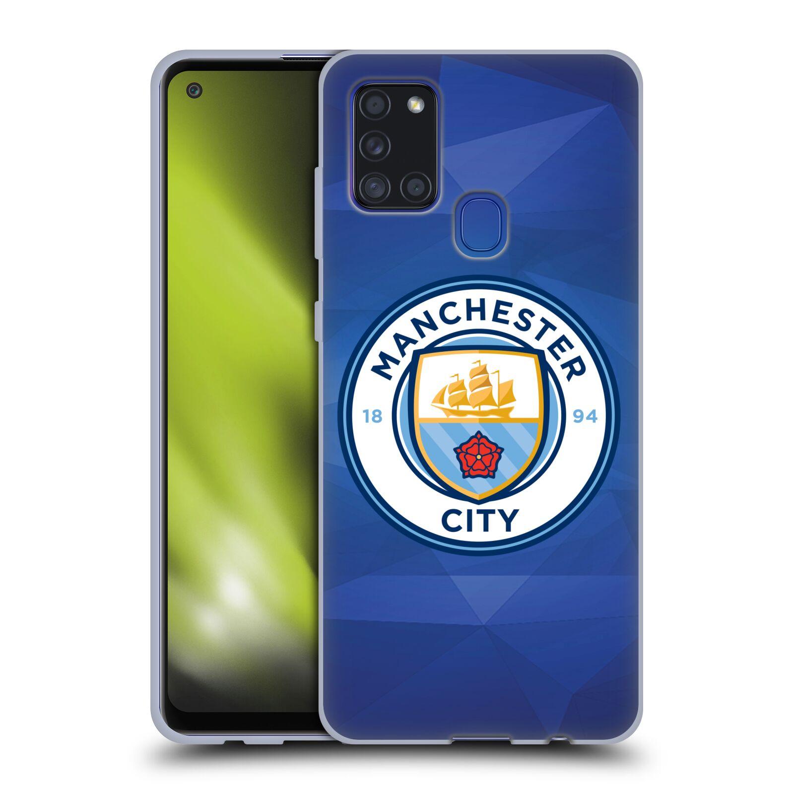 Silikonové pouzdro na mobil Samsung Galaxy A21s - Head Case - Manchester City FC - Modré nové logo
